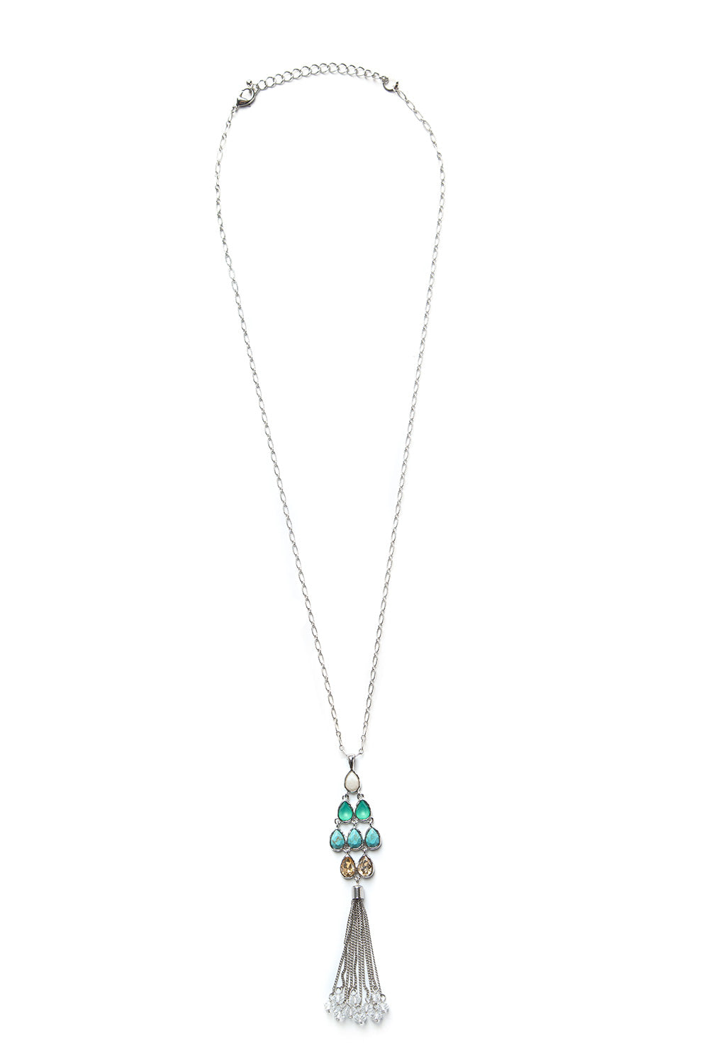 Type 2 Teal It Rains Necklace