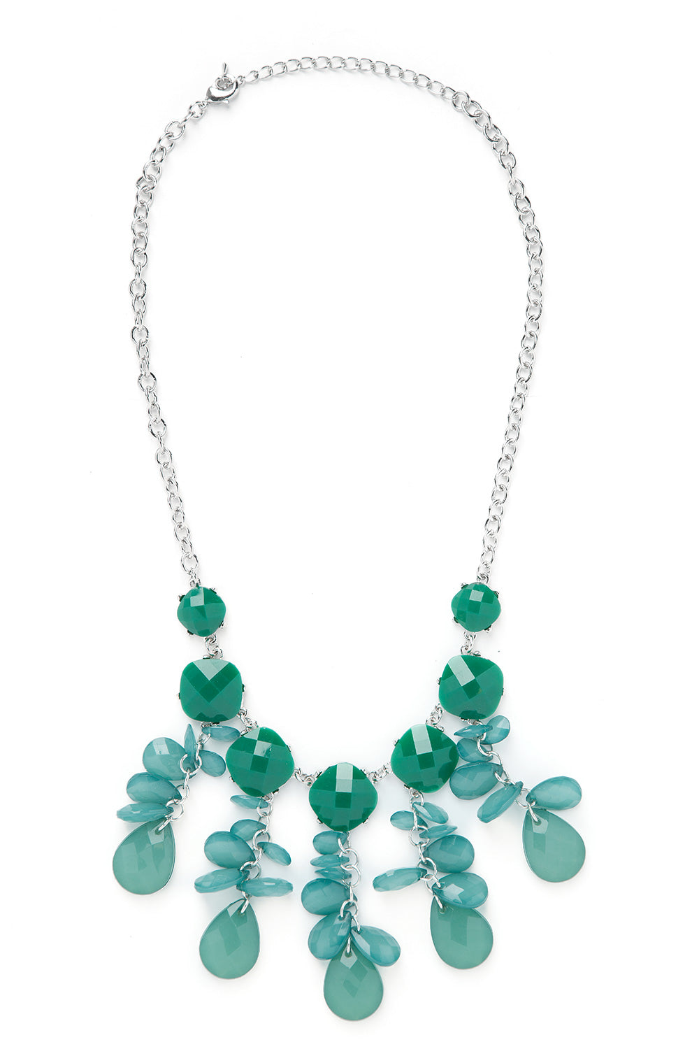 Type 2 Clustered at Home Necklace in Green