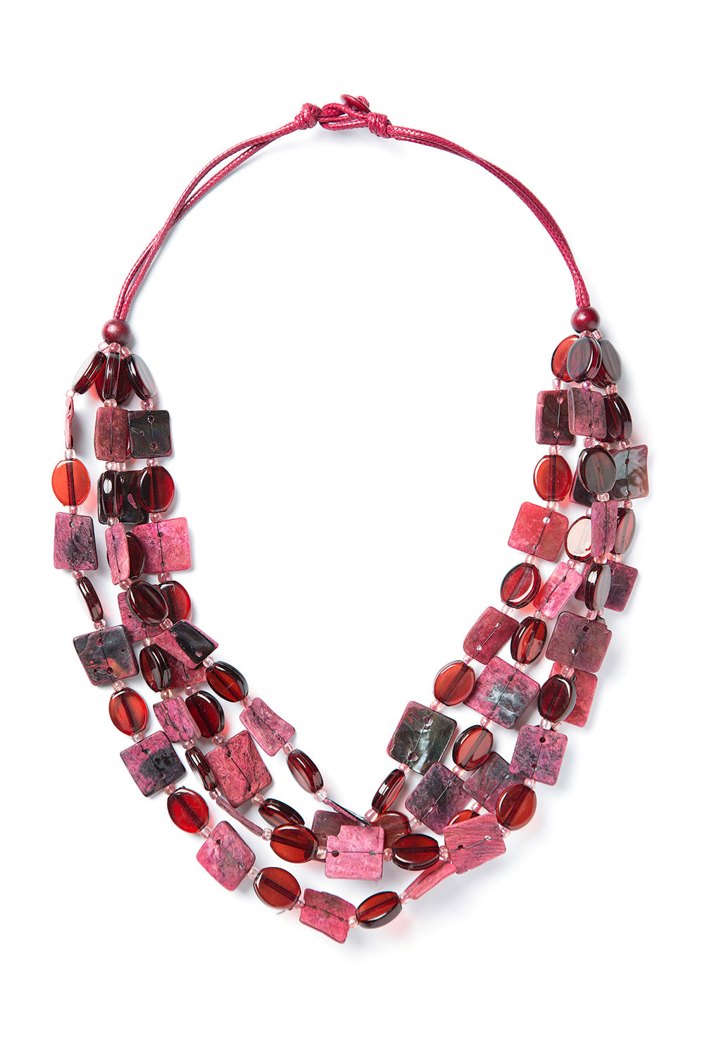 Type 3 Burgundy Resin Necklace