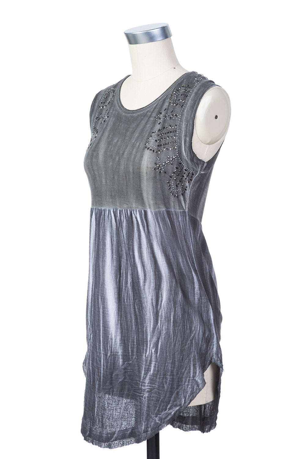 Type 2 Pewter Scrunch Top in Gray
