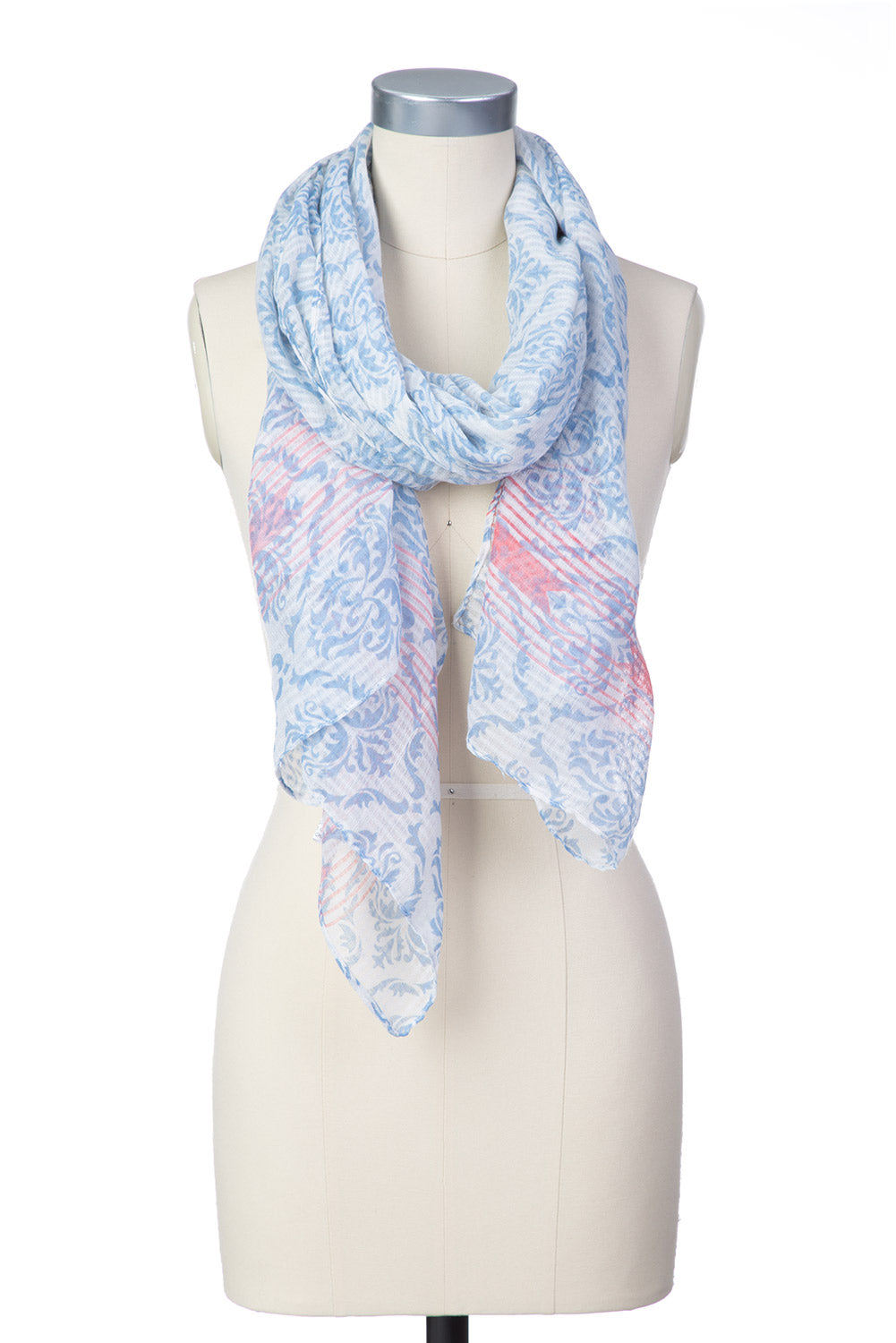 Type 2 Damsel in Damask Scarf