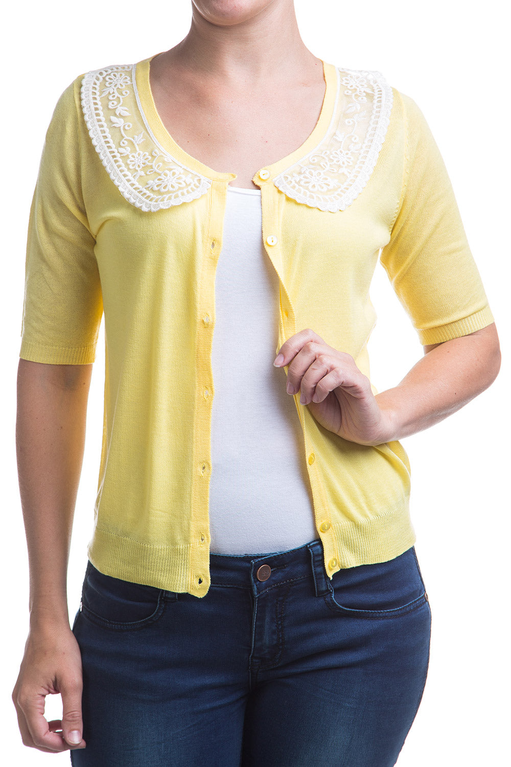 Type 1 Lemon Meringue Pie Cardigan