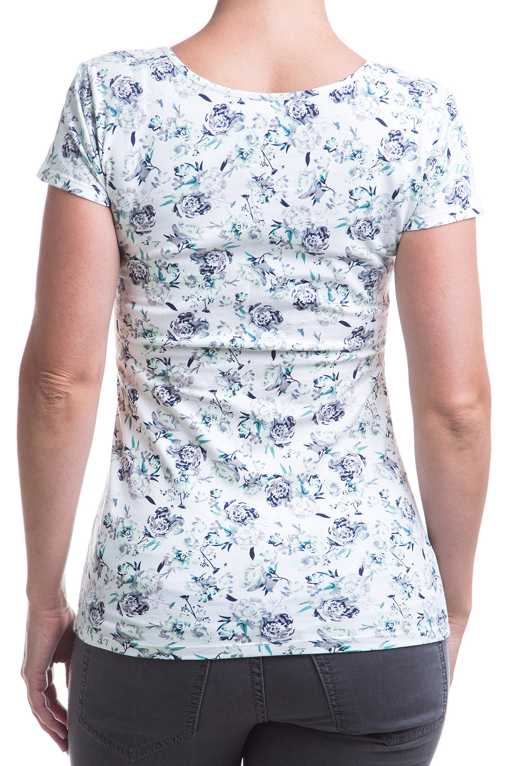 Type 2 Favorite Scoop Tee in Mint Floral