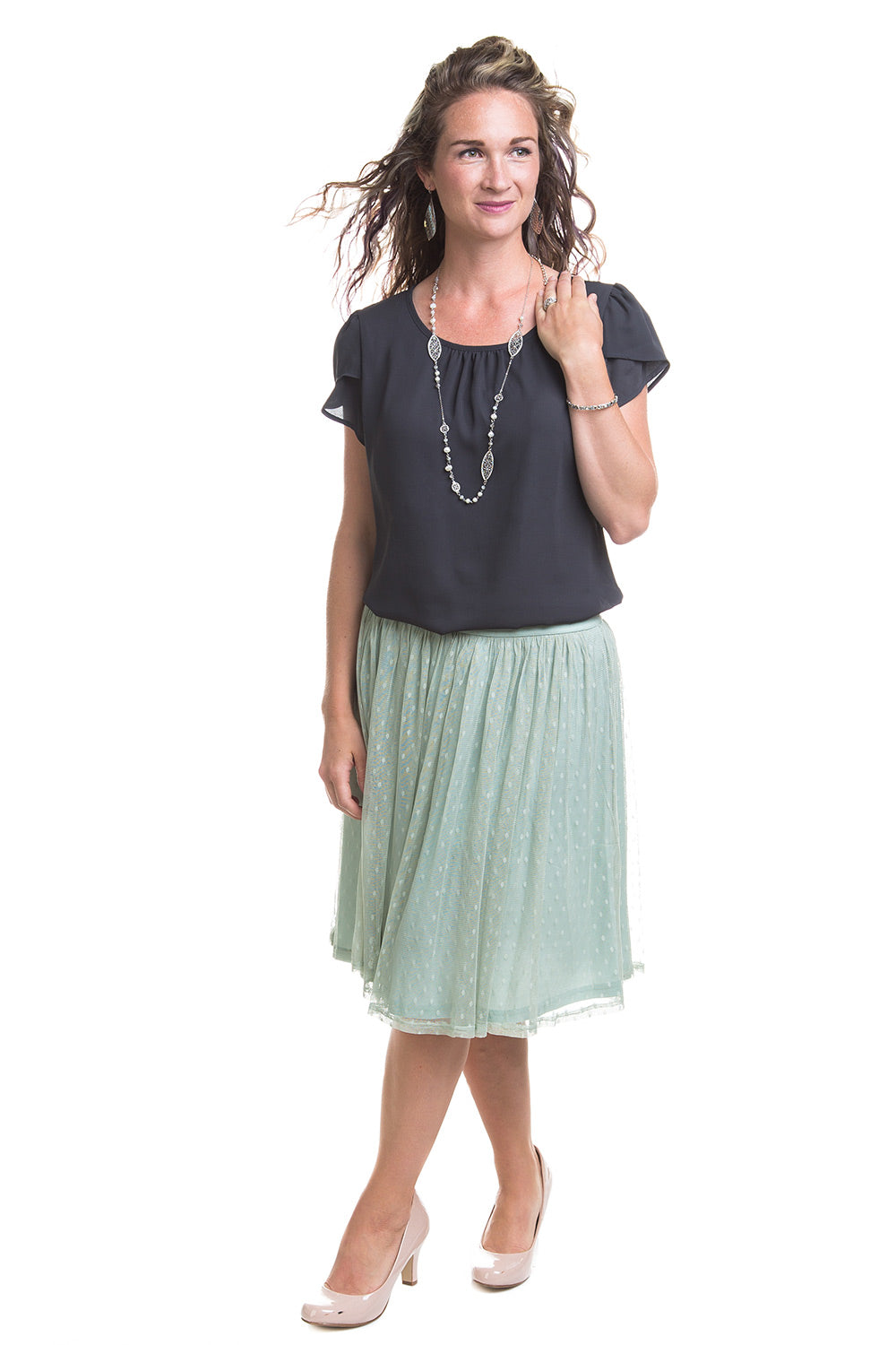 Type 2 Gently Laced Knit Tulle Skirt