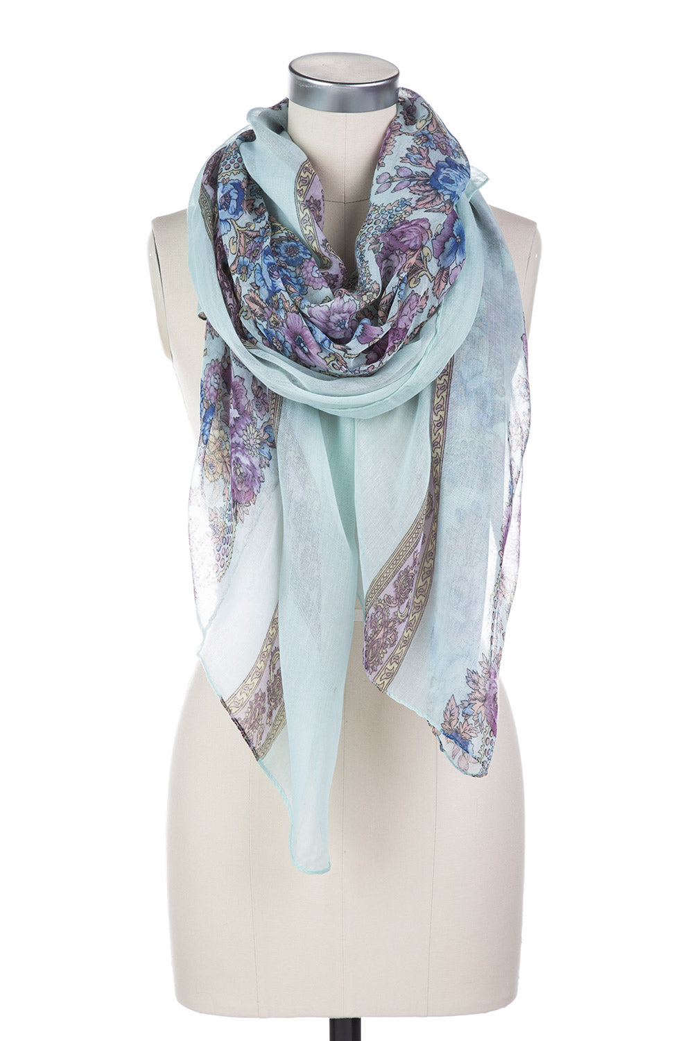 Type 2 Garden Mint Scarf