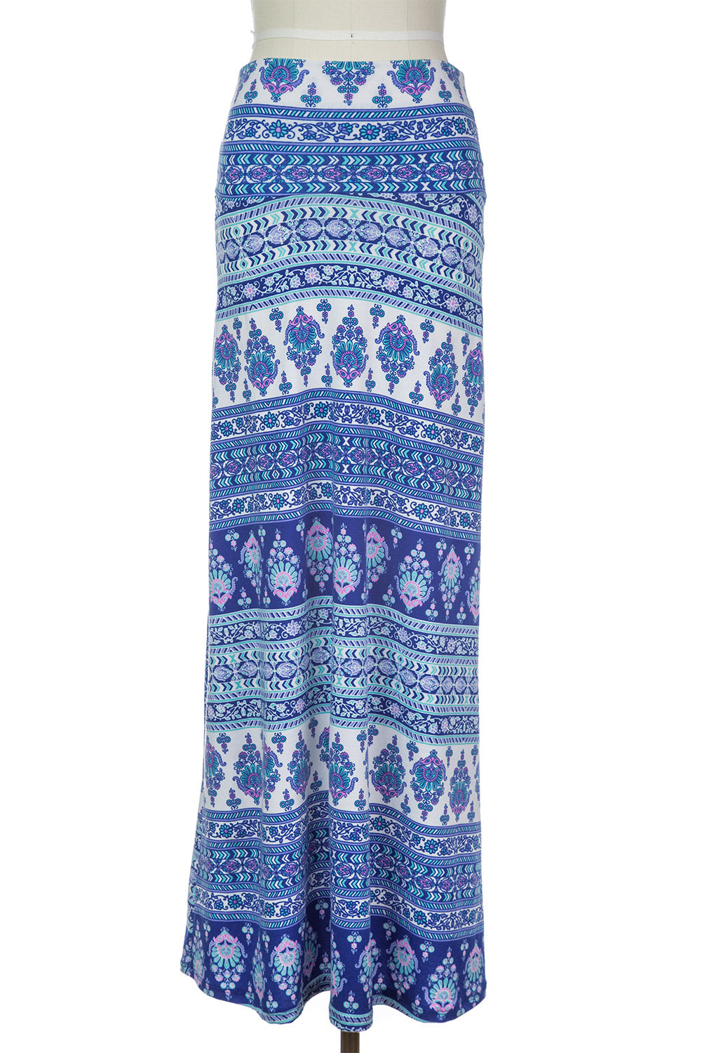 Type 1 Blue Animation Maxi Skirt