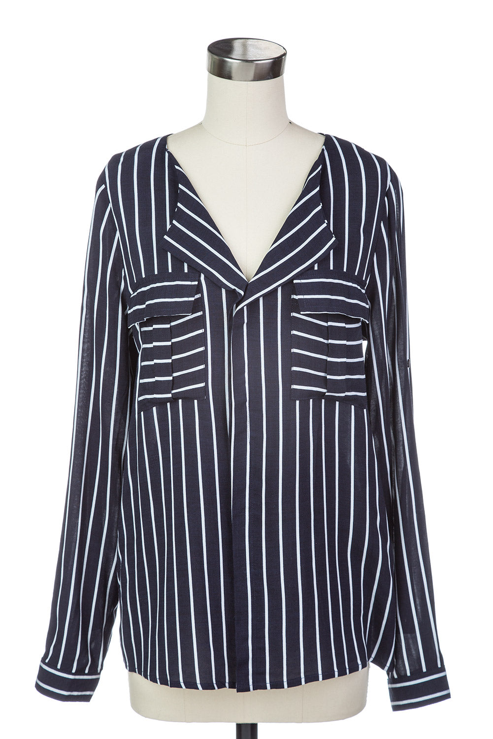 Type 4 Midnight Stripes Top