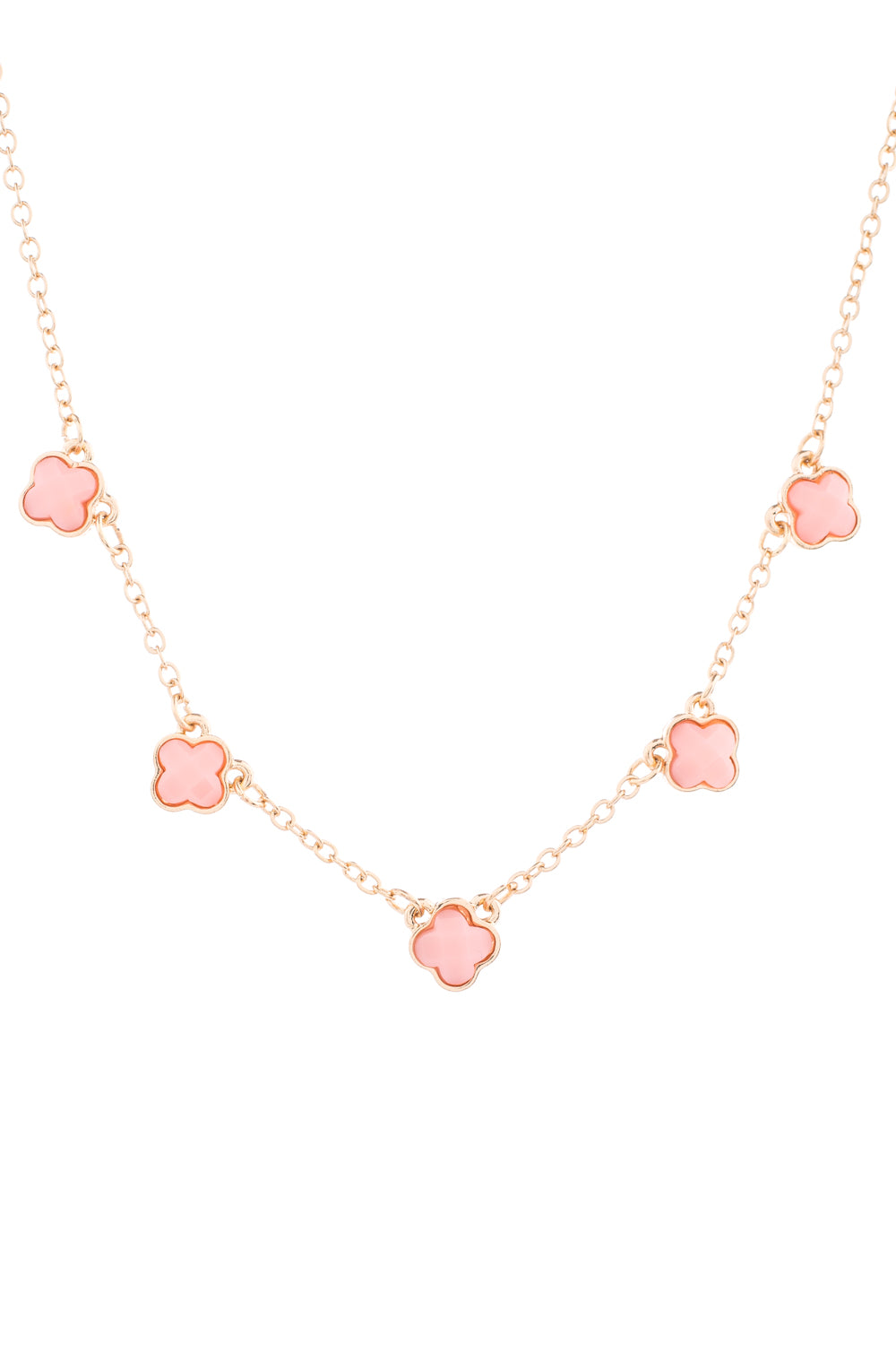 Type 1 Clever Clovers Necklace In Pink