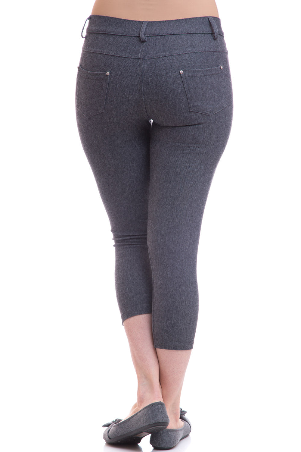 Type 2 Gray Capri Jeggings