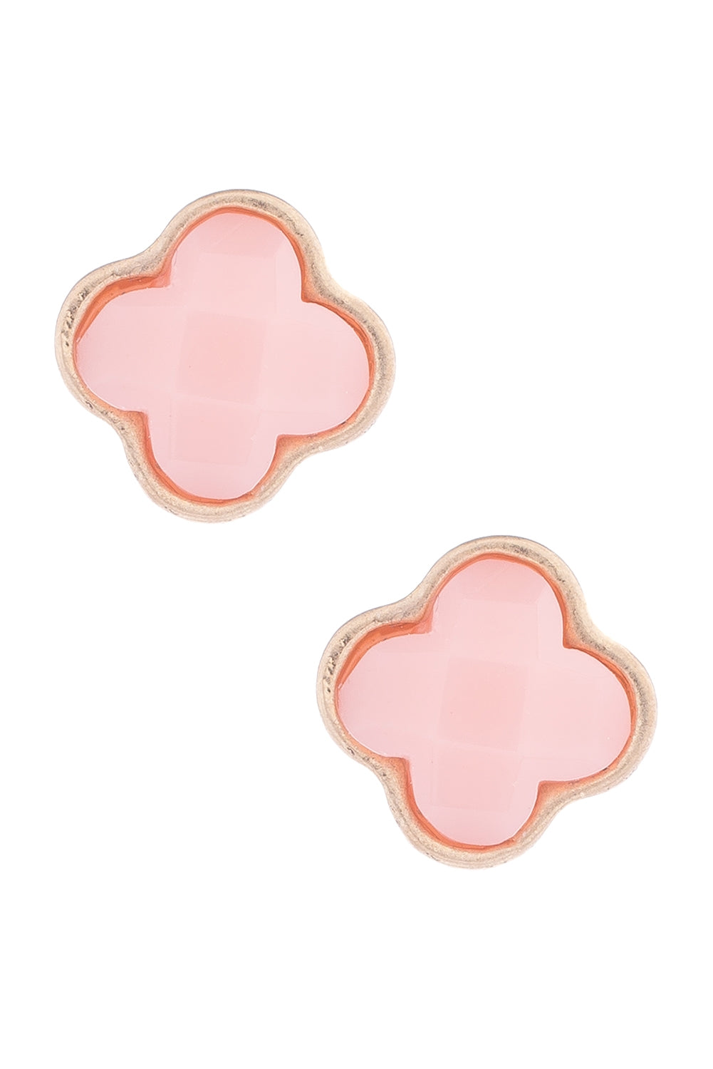 Type 1 Clever Clovers Earrings In Pink