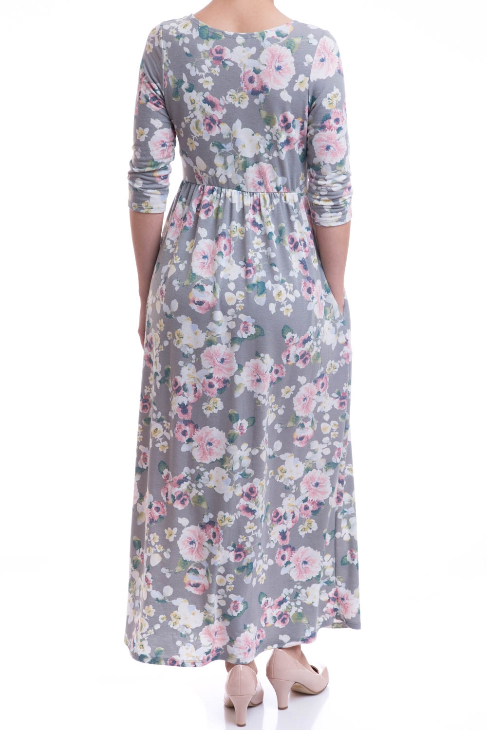 Type 2 Cozy Comfy Dress In Floral Smoke