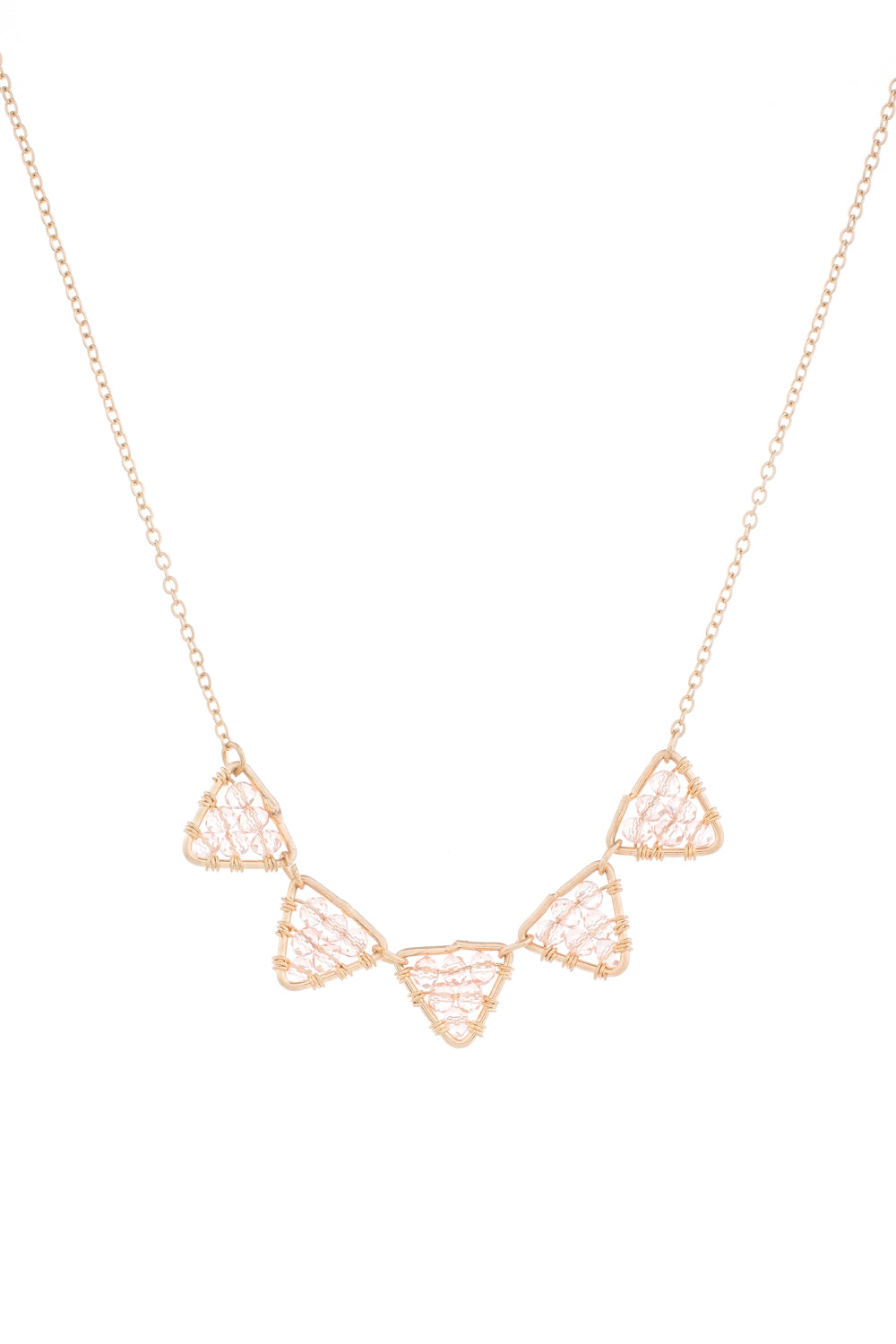 Type 3 Peach Pyramids Necklace