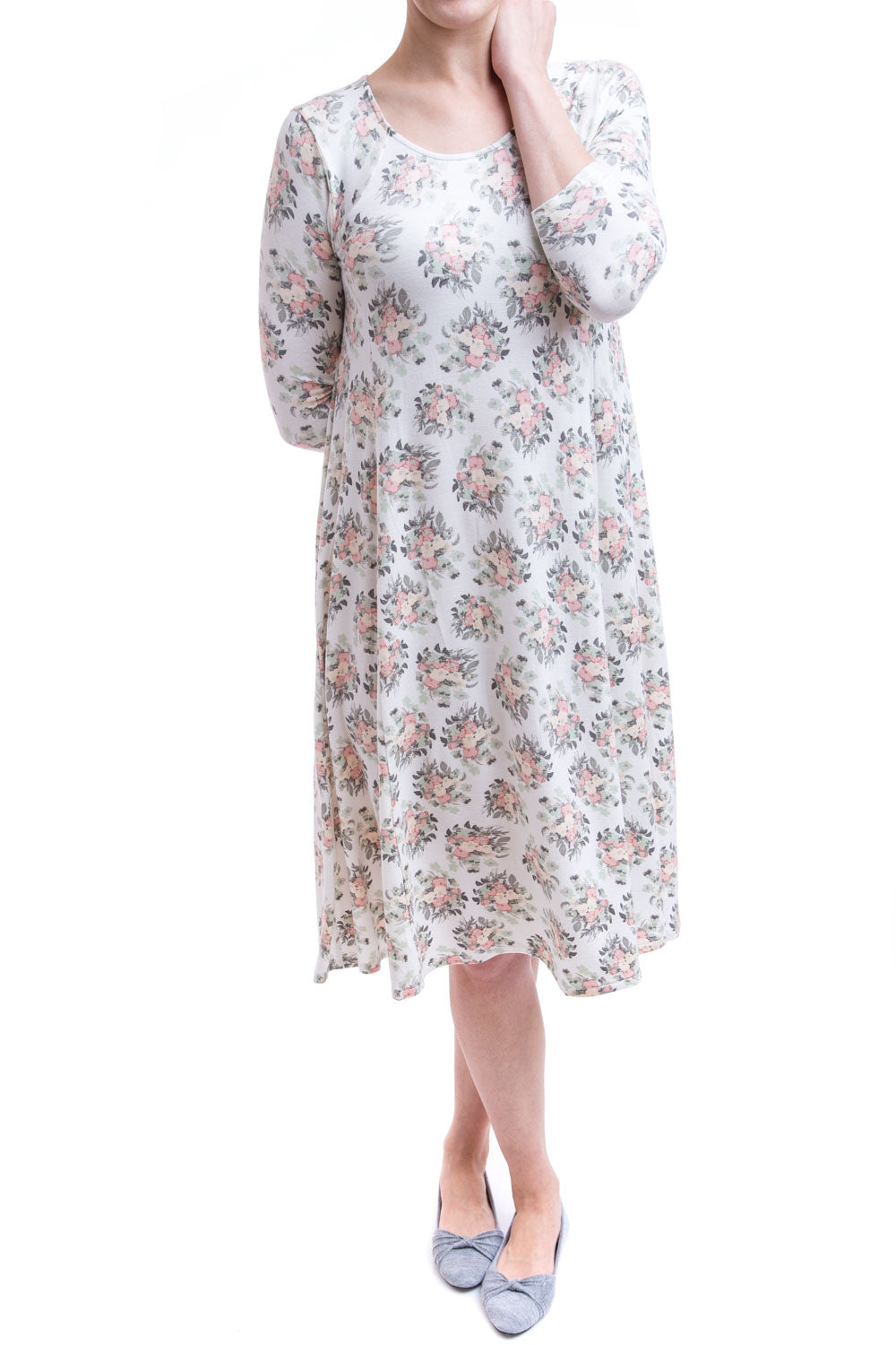 Type 2 About Town Dress In Flower Garden