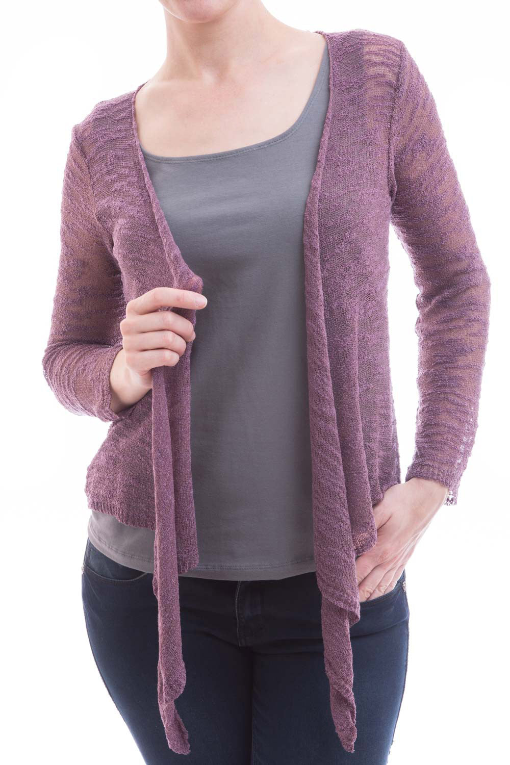 Type 2 Knit Tie Top in Mauve