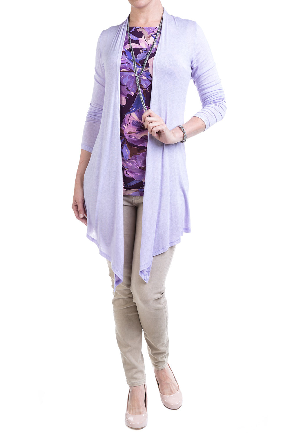 Type 2 Lighter Layer Cardigan in Lilac