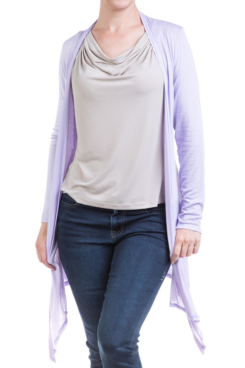 Type 2 Dew Drape Top in Taupe