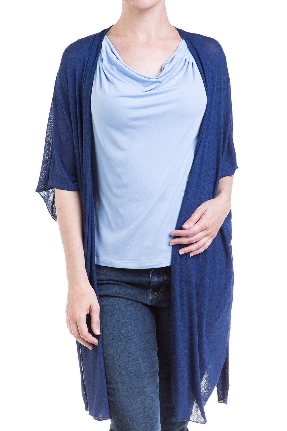 Type 2 Dew Drape Top in Baby Blue