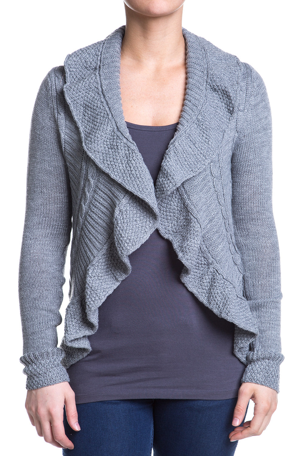 Type 2 Cabled Ruffle Cardigan
