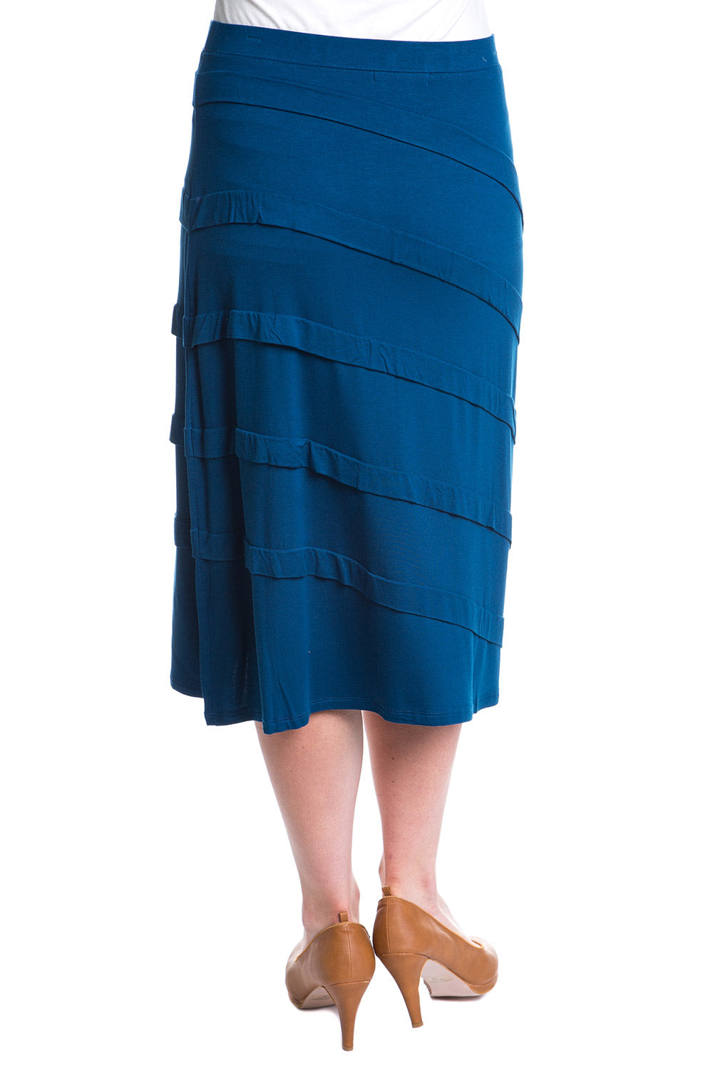 Type 3 Pleated Perfection Skirt In Peacock Blue