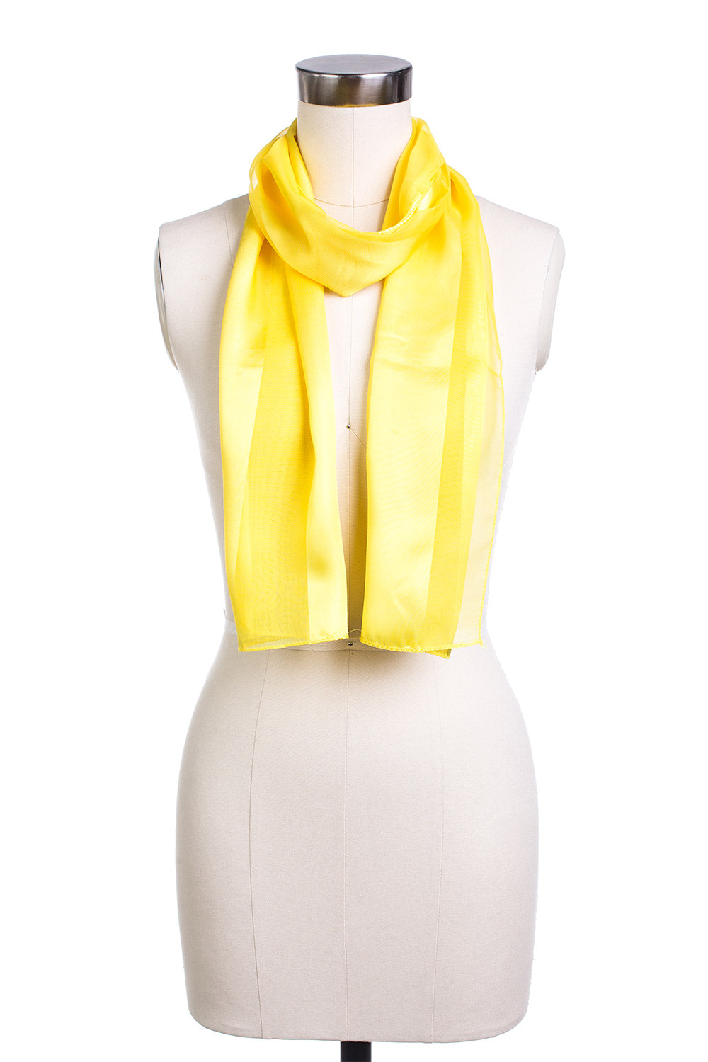 Type 4 Sheer Satin Scarf In Yellow