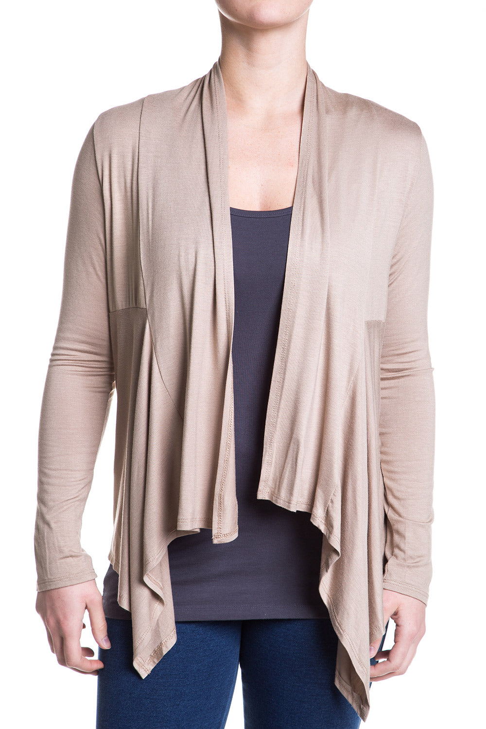 Type 2 Light Layers Cardigan In Beige