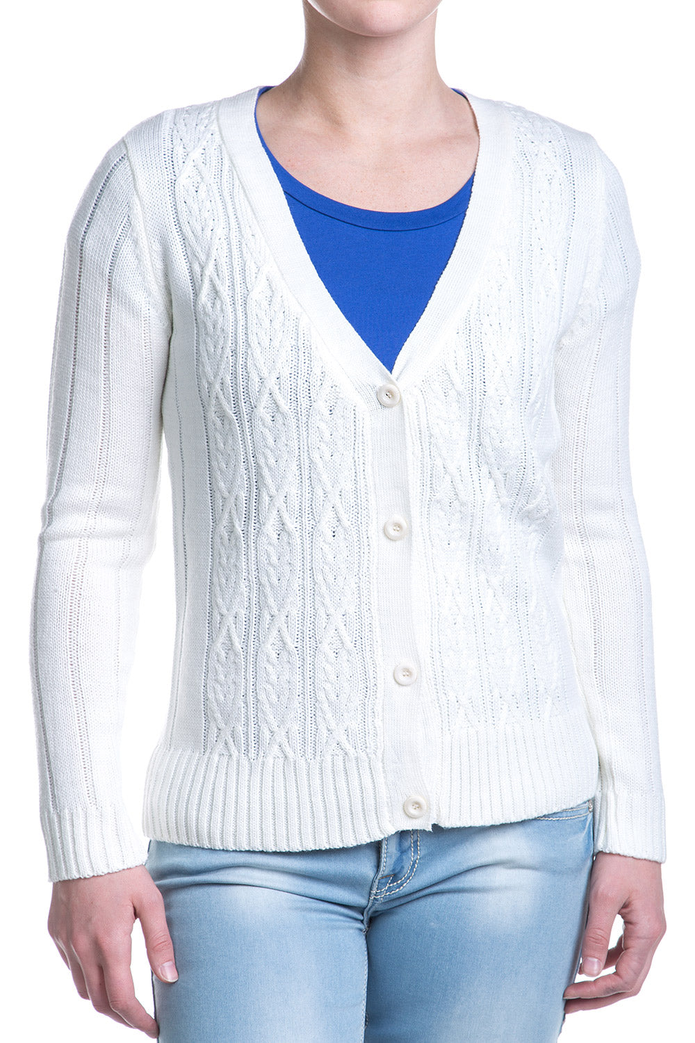 Type 1 By The Fire Cardigan In Ivory