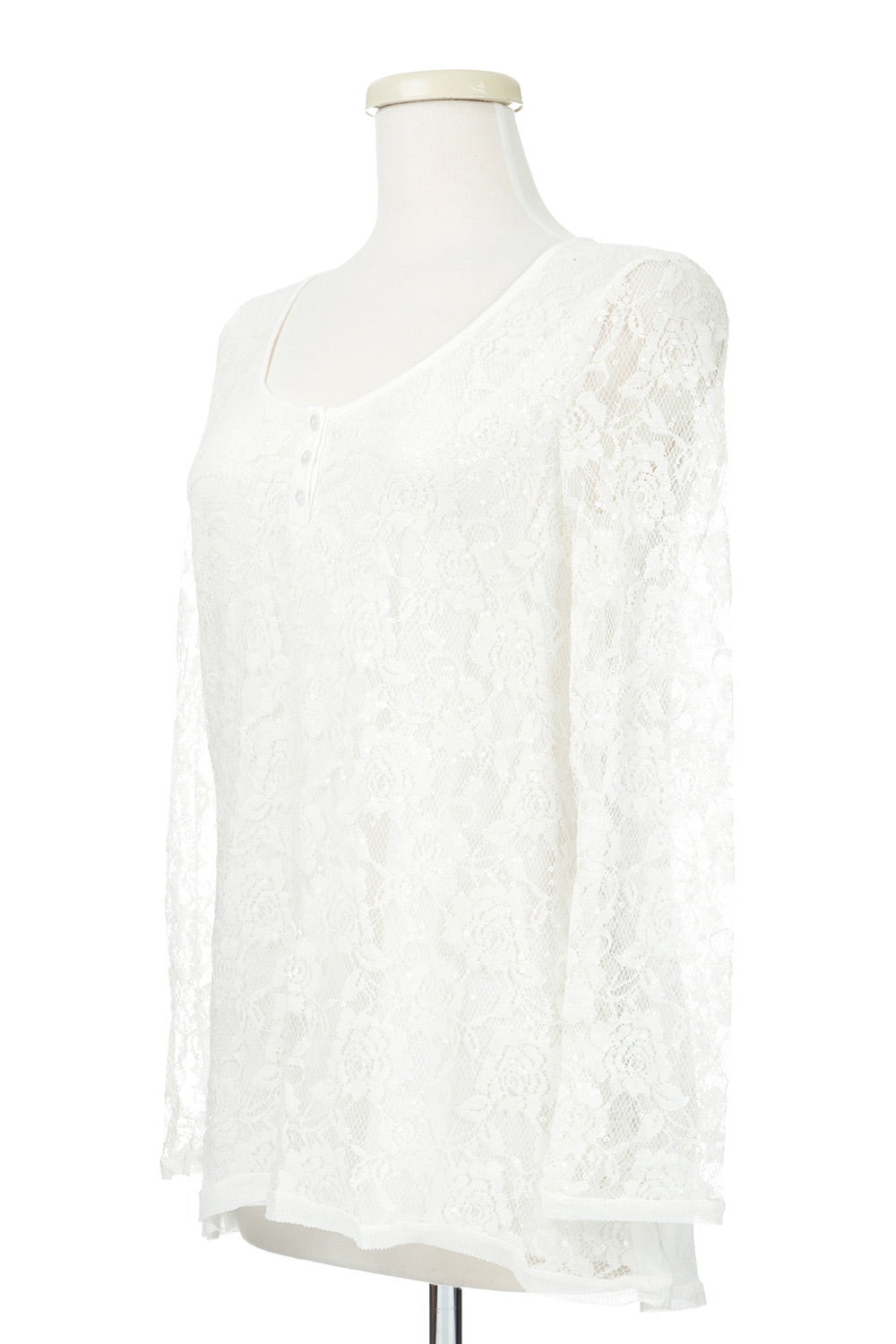 Type 1 Holiday Sparkle Top in White