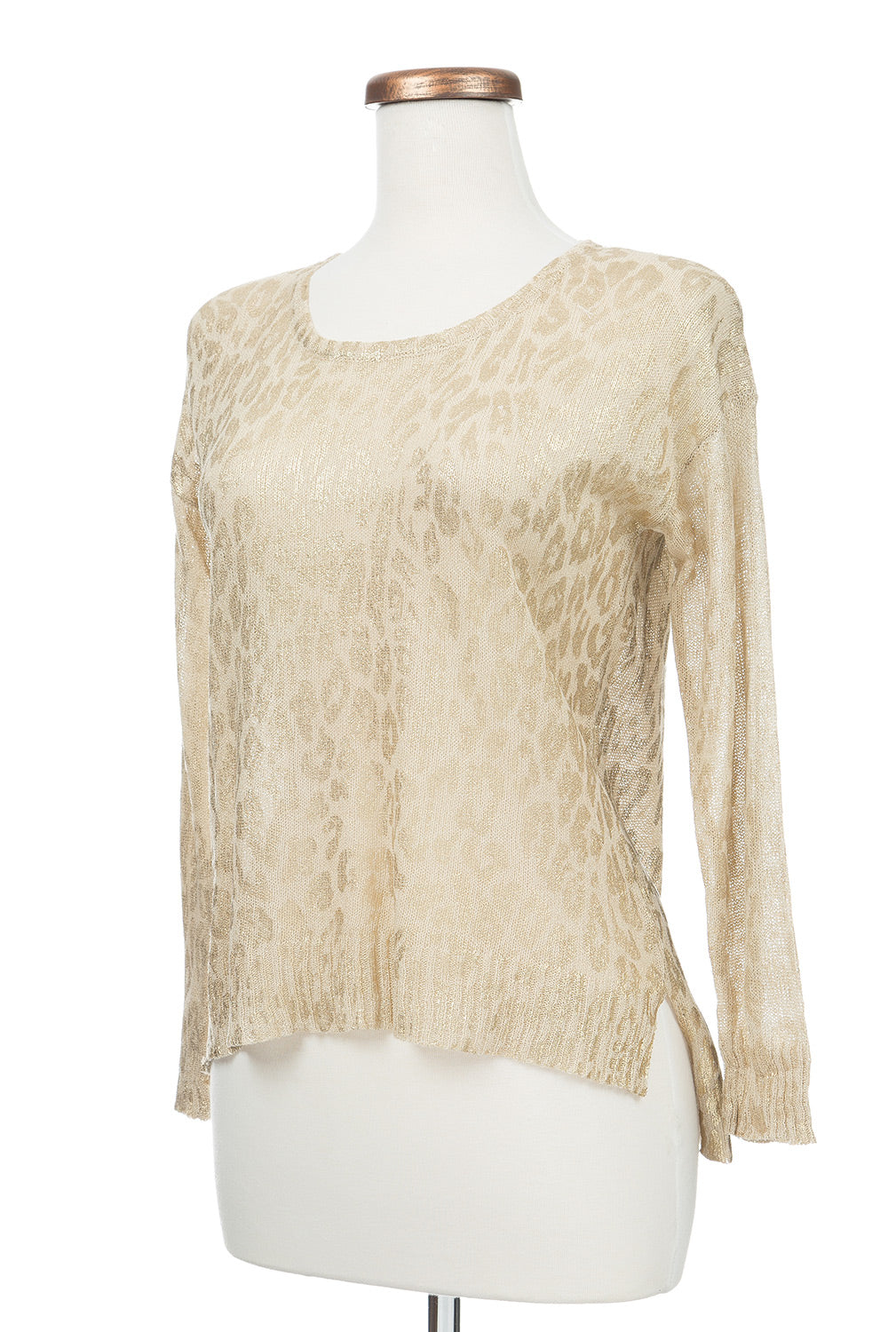 Type 3 Leopard Luxe Top in Gold