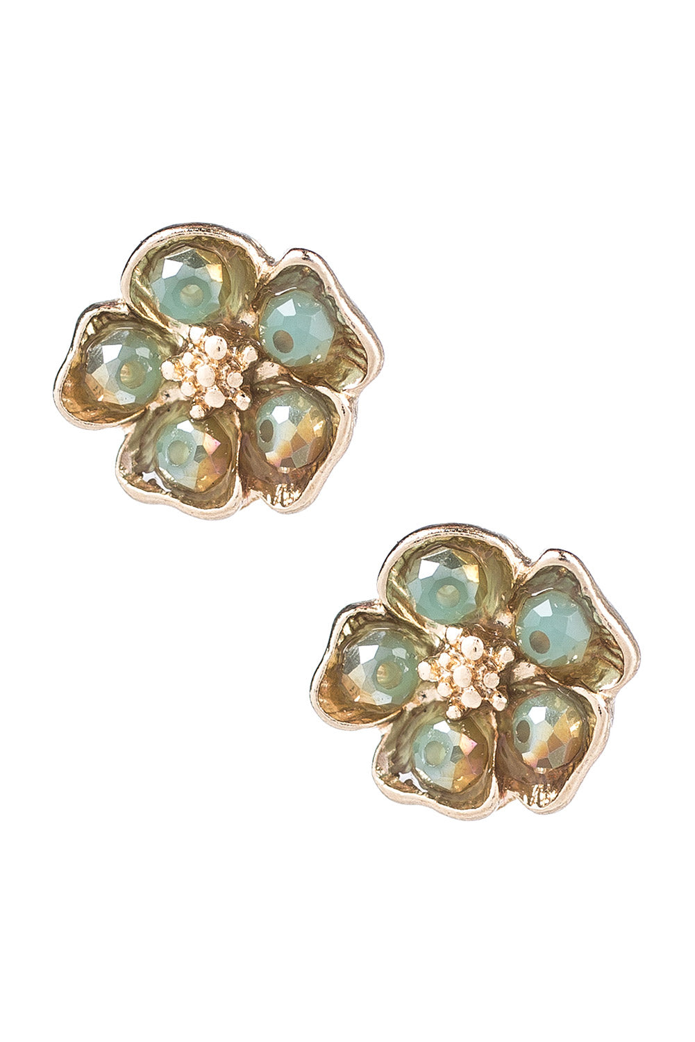 Type 1 Mint Peonies Earrings