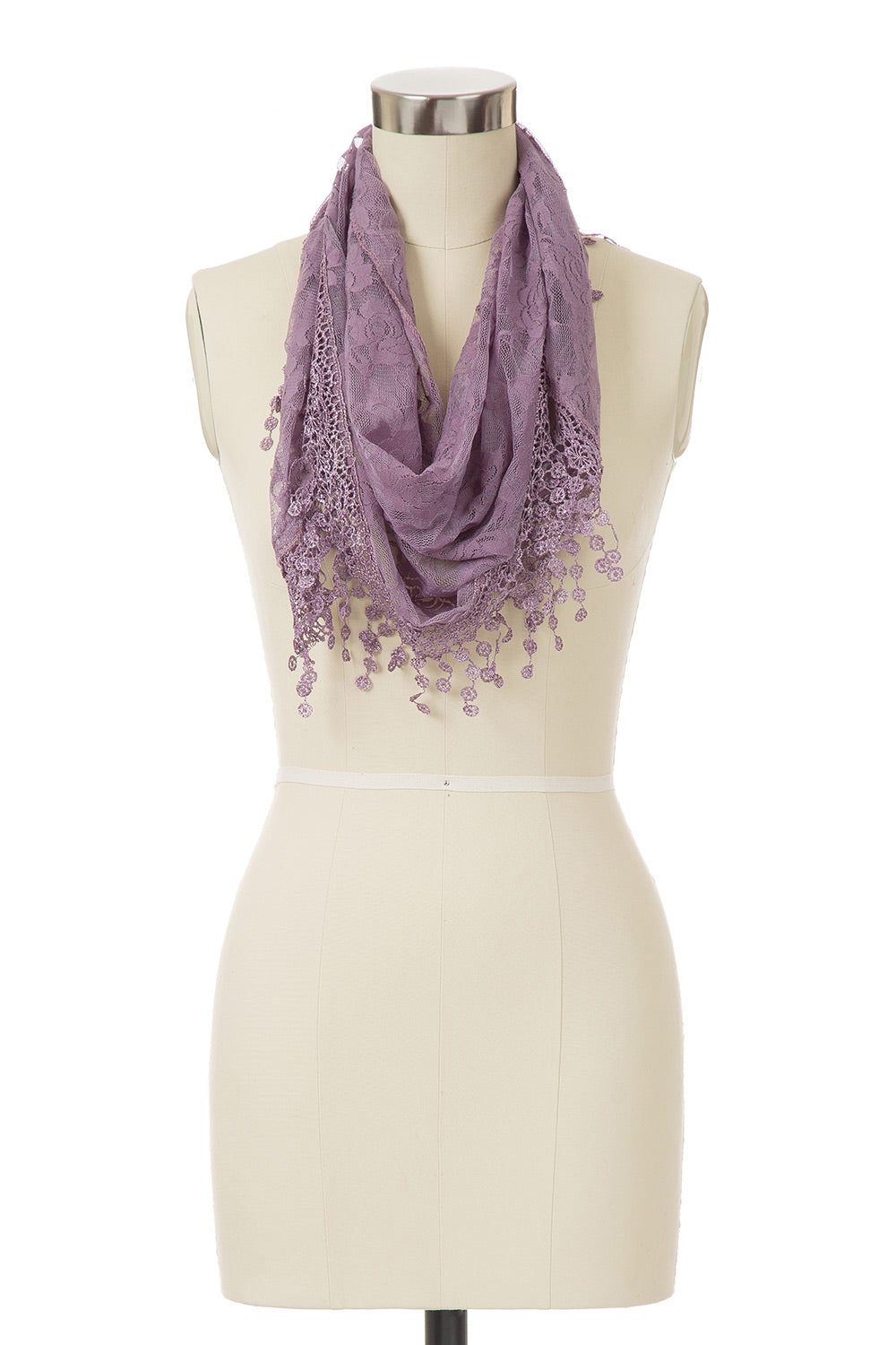 Type 2 Vintage Lace Scarf in Purple