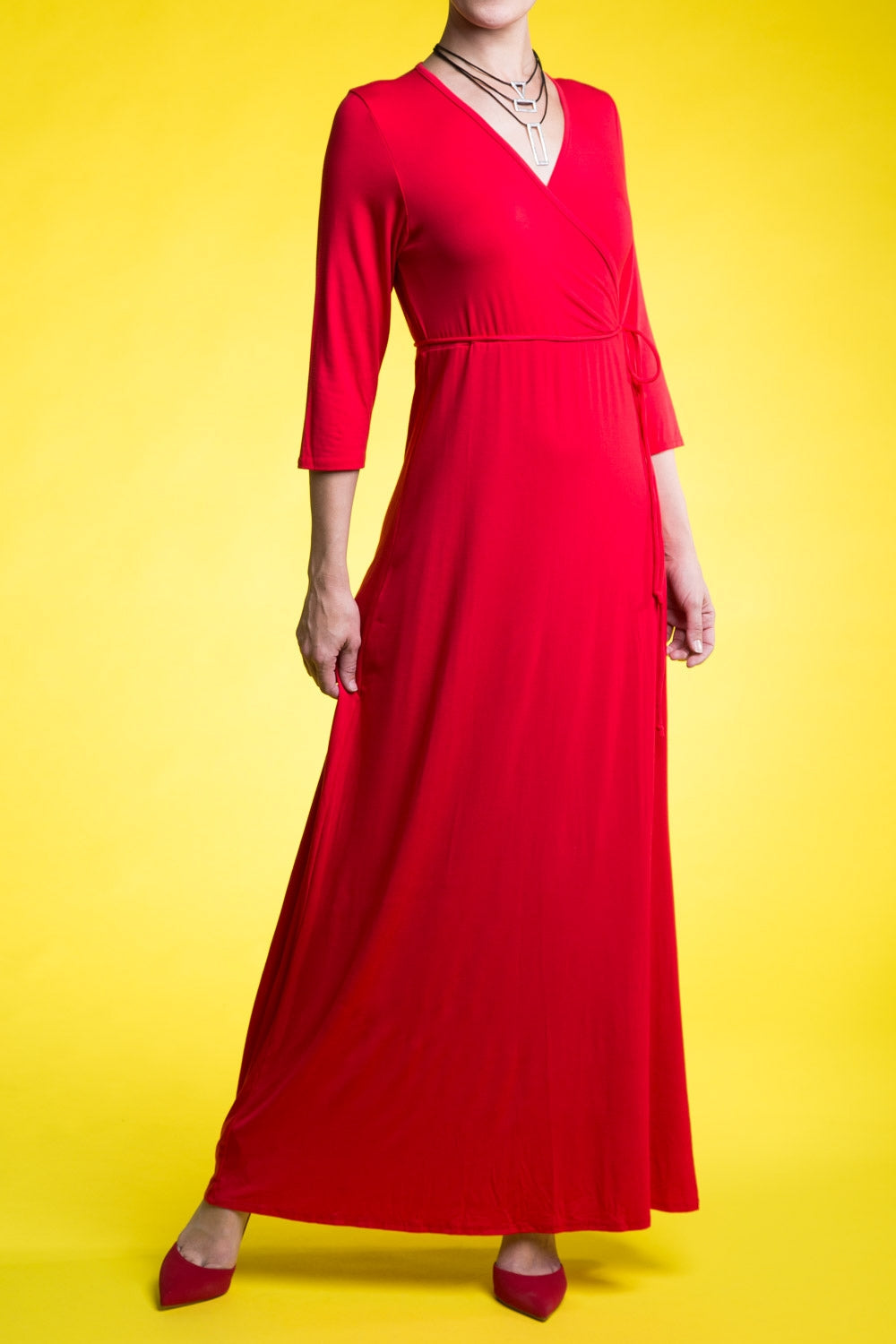 Type 4 Red Ruby Maxi Dress