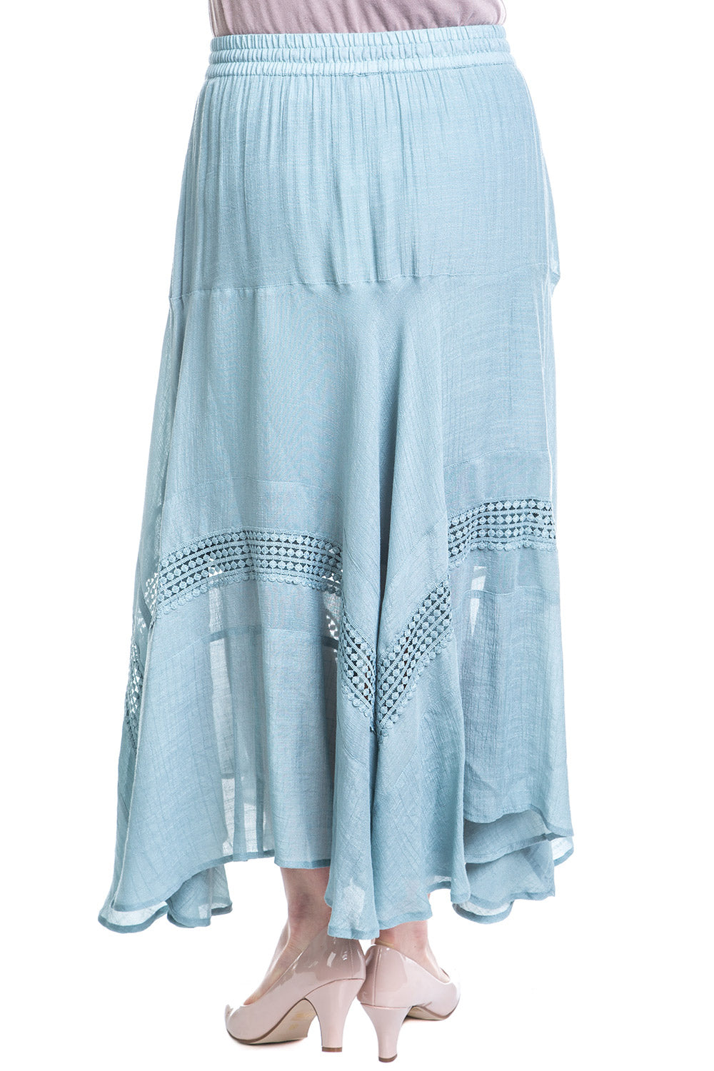Type 2 Cha Cha Cha Skirt In Misty Blue