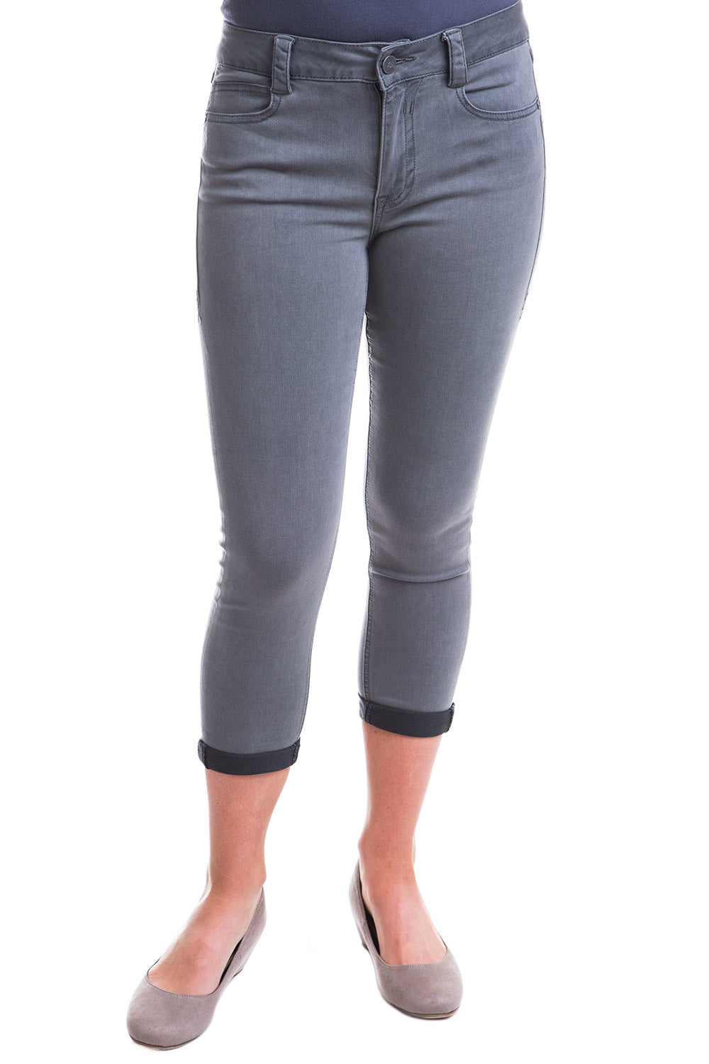 Type 2 Mid-Rise Crop Pants in Slate