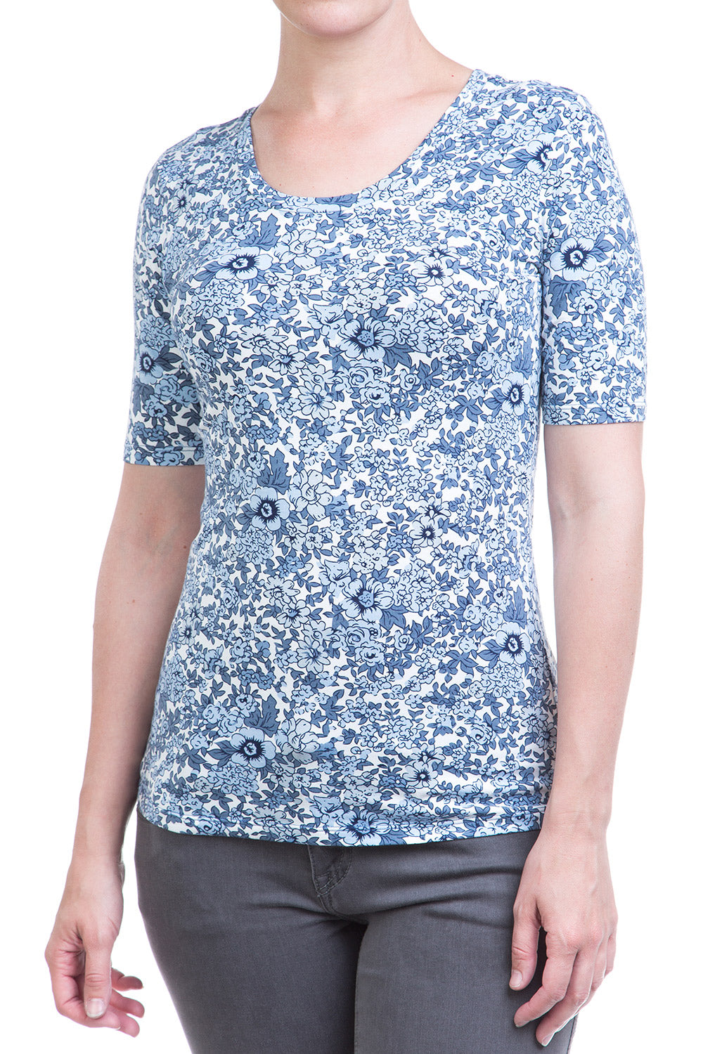 Type 2 Blue Floral Top