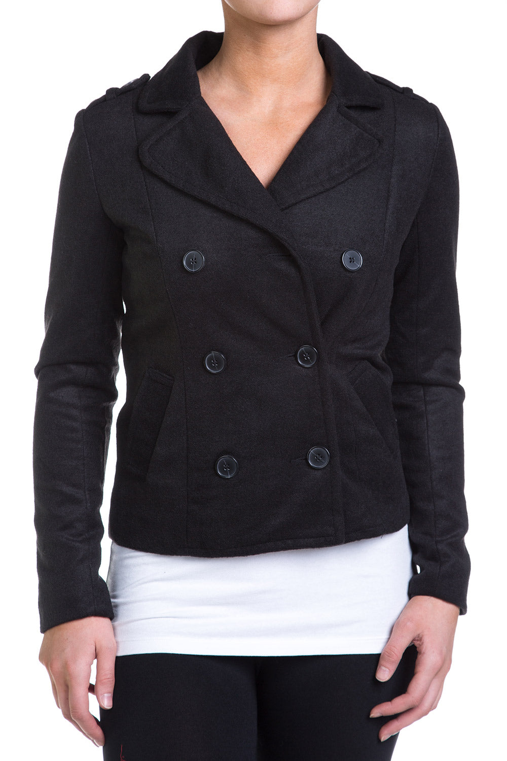 Type 4 Pleasant Peacoat in Black