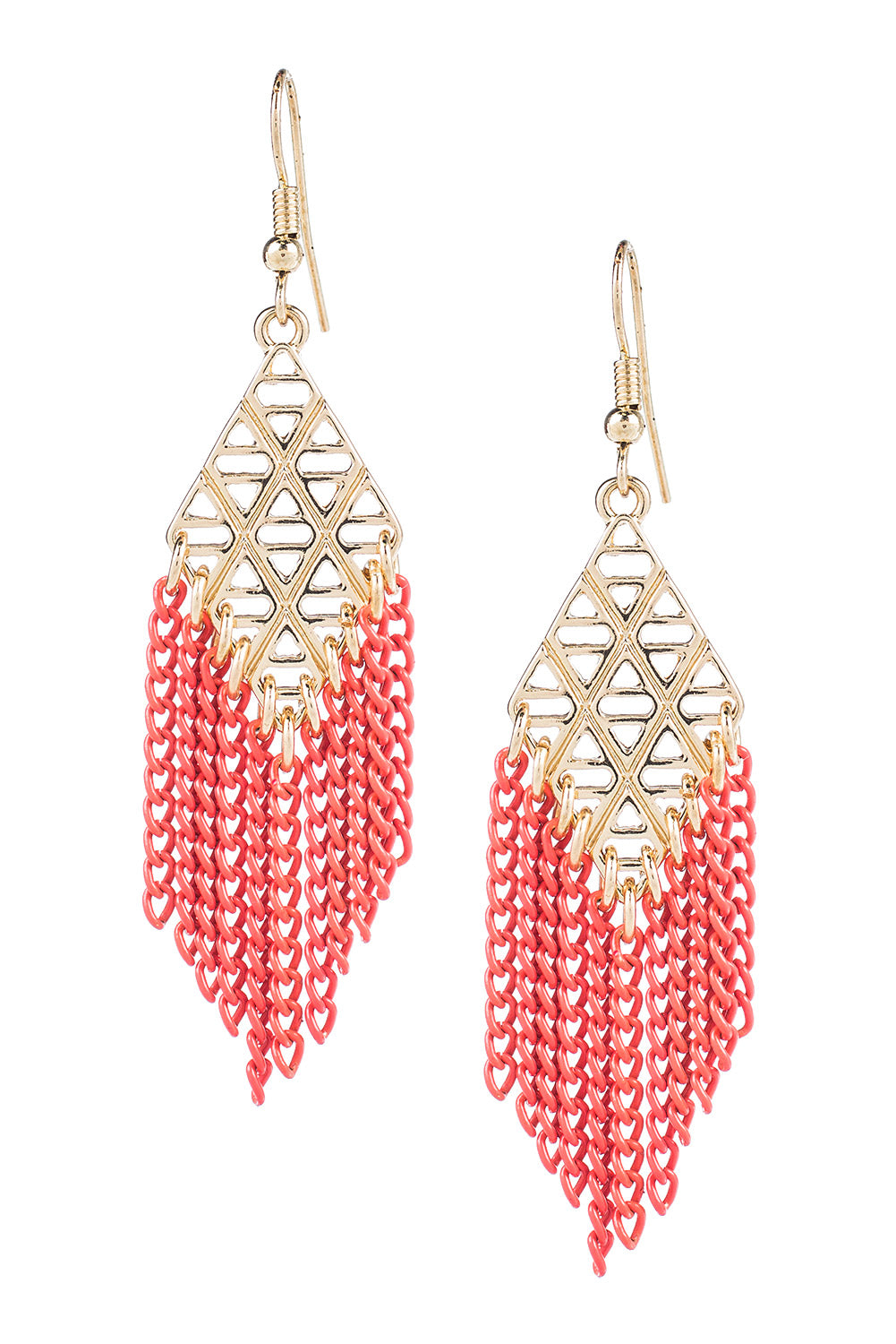 Type 3 Coral Chains Earrings