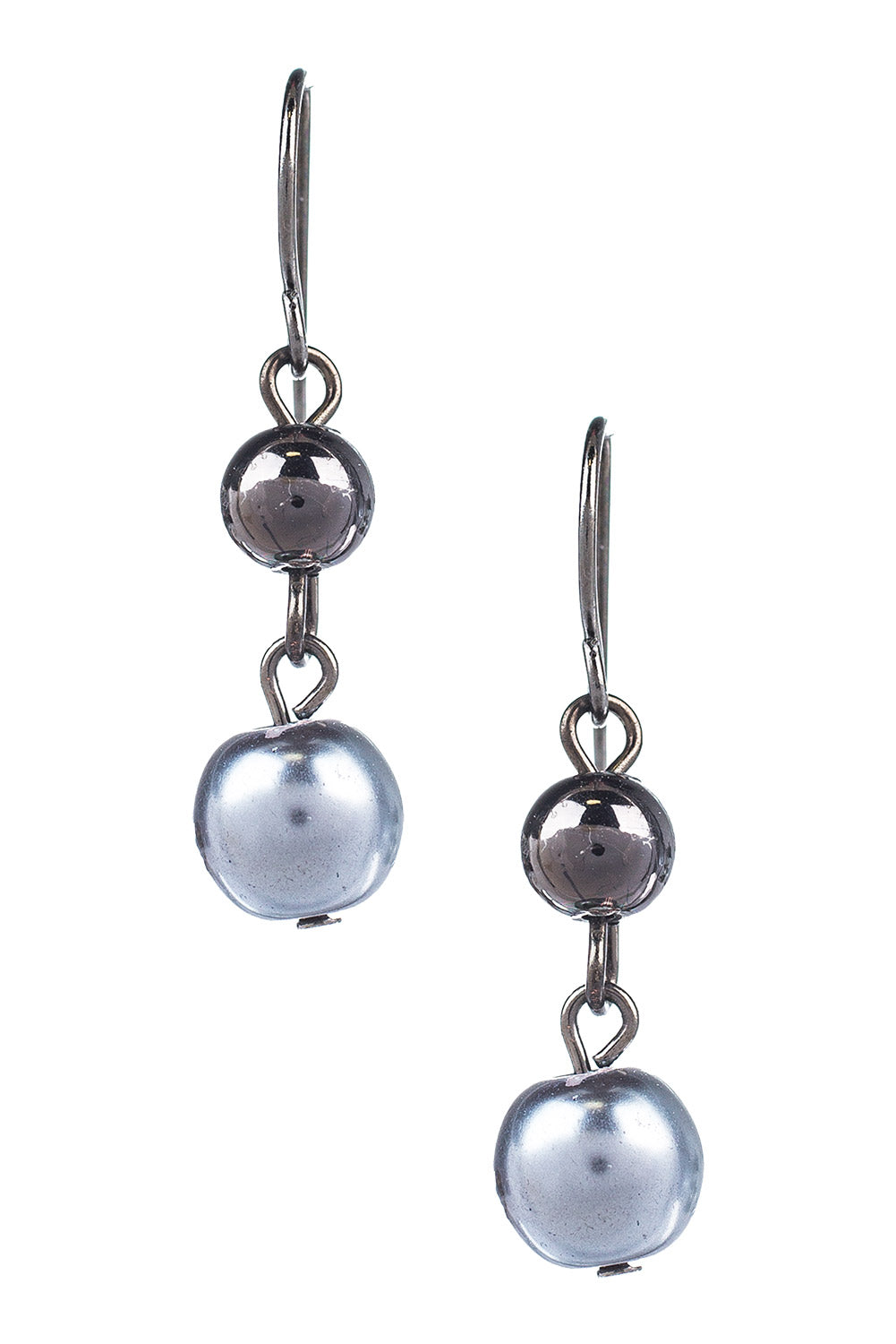 Type 2 Pewter And Pearls Earrings
