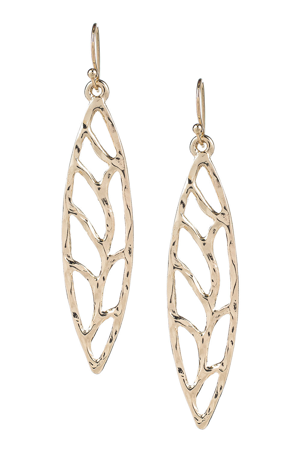Type 3 Hammered Leaves Earrings