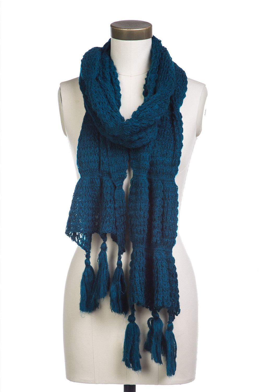 Type 3 Teal Texture Scarf