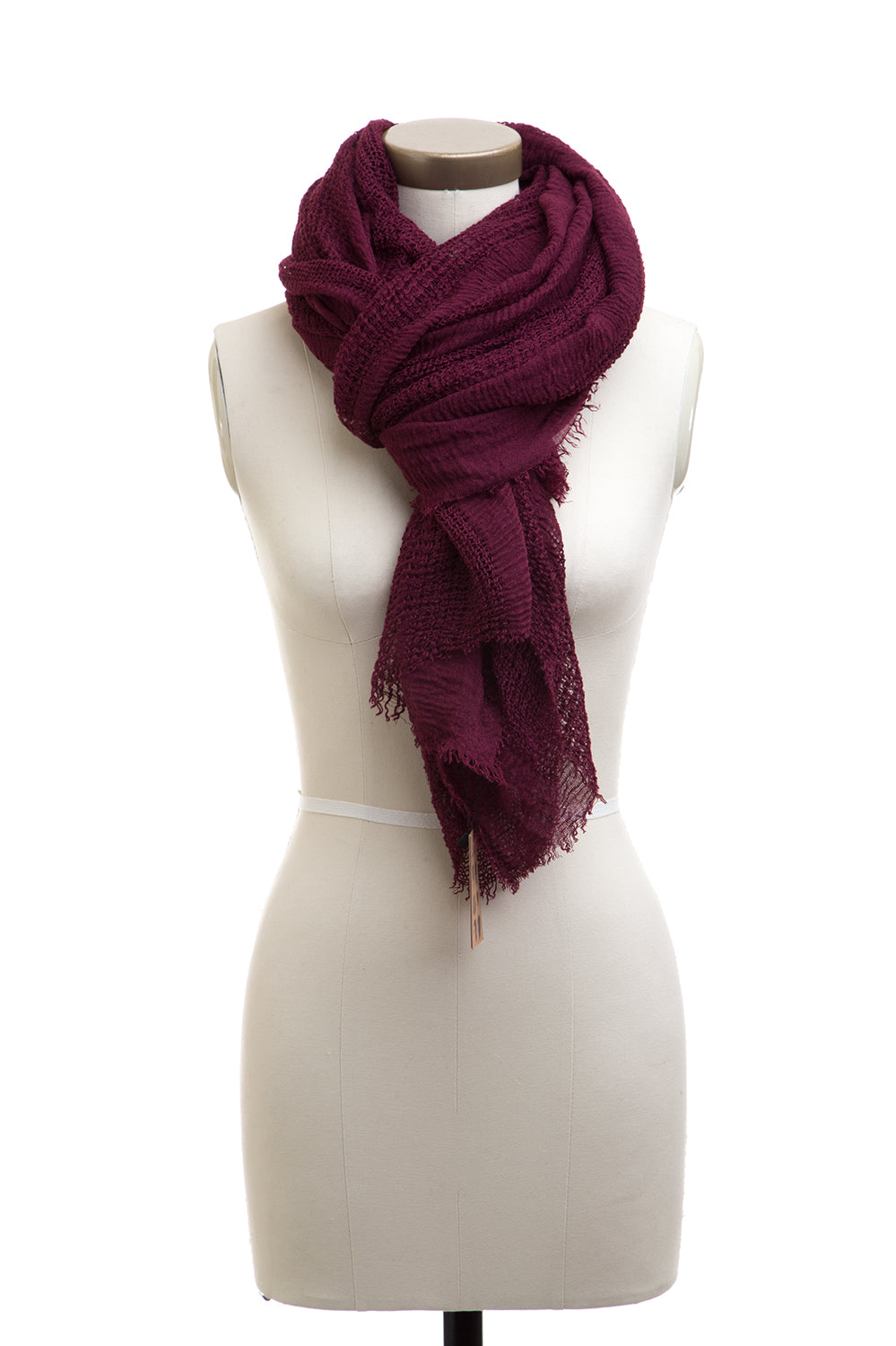 Type 3 By The Hearth Scarf in Burgundy