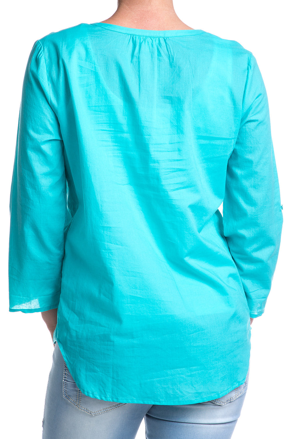 Type 1 Tucked Turquoise Top