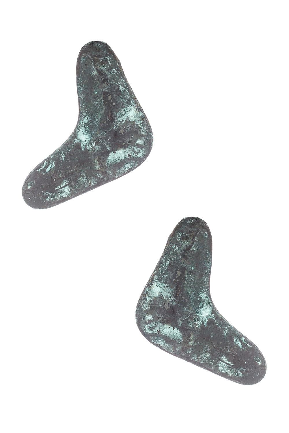 Type 3 Turquoise Boomerang Earrings