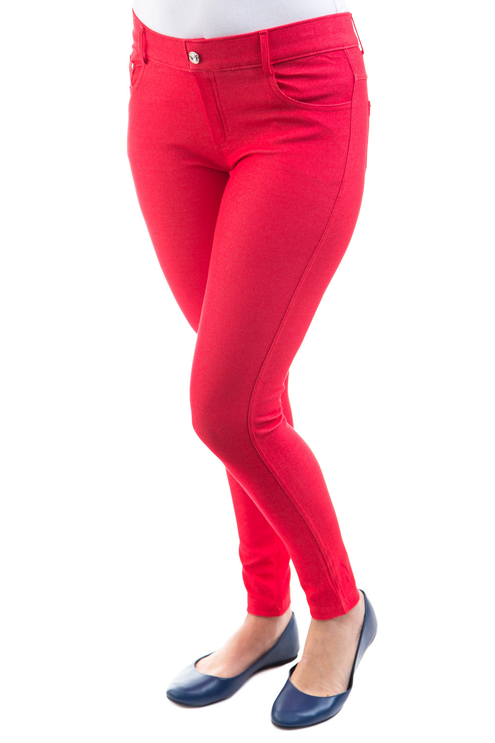 Type 1 Red Jeggings