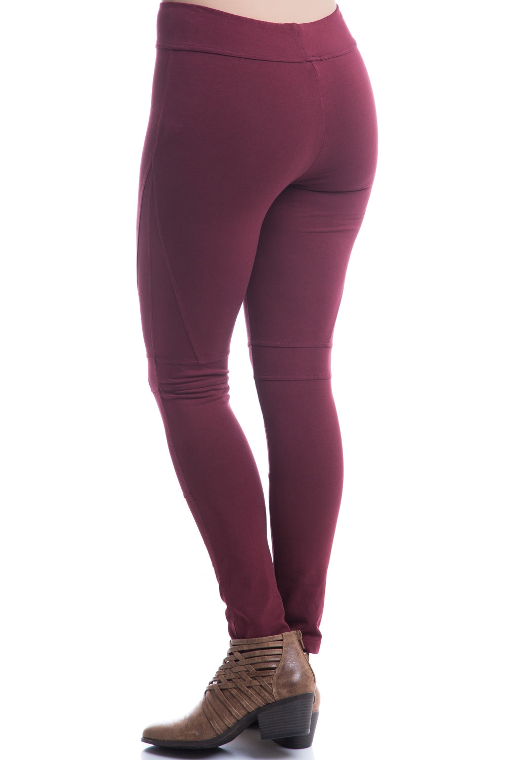 Type 3 Maroon Angles Leggings