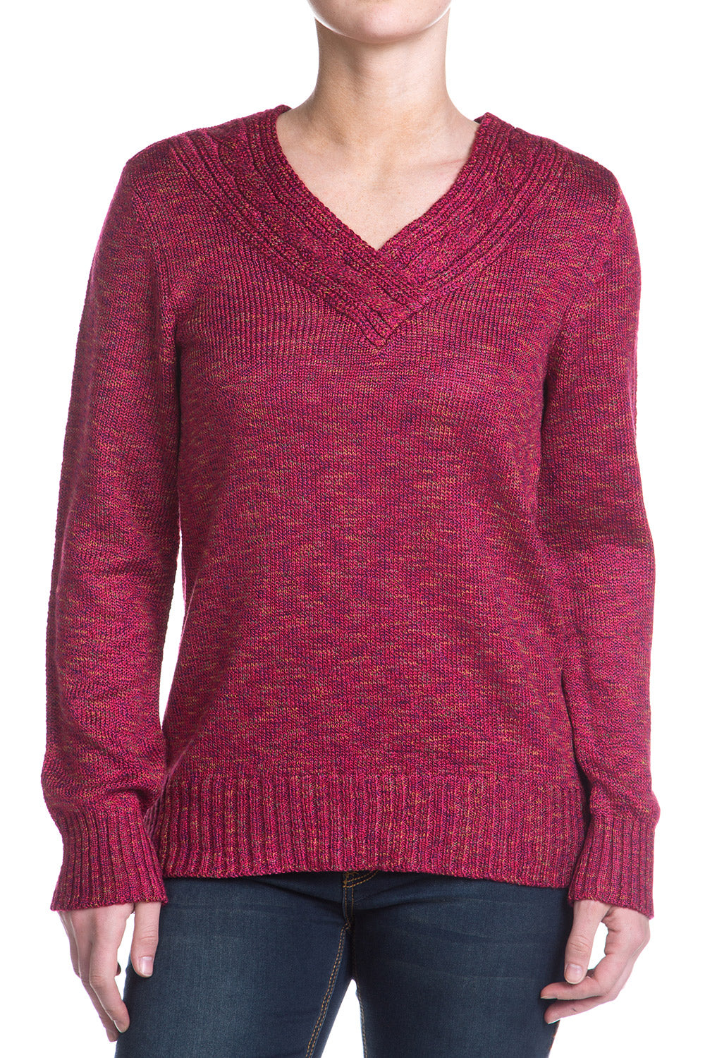 Type 3 Motown Sweater In Cranberry
