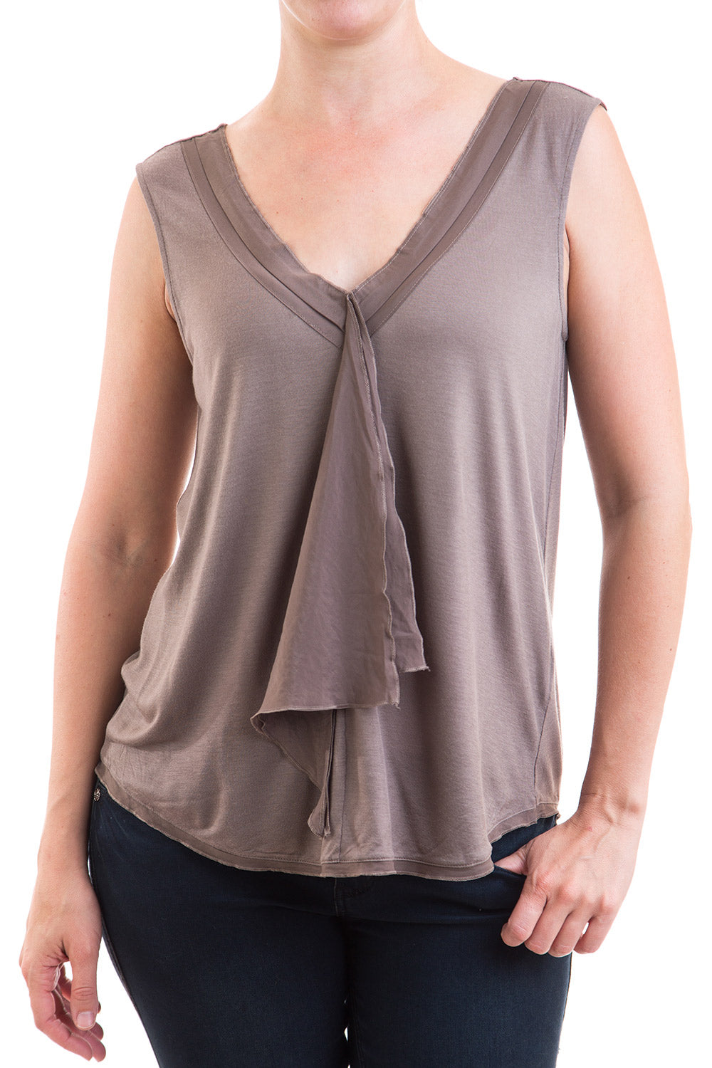 Type 2 Fluid Flowing Top in Taupe