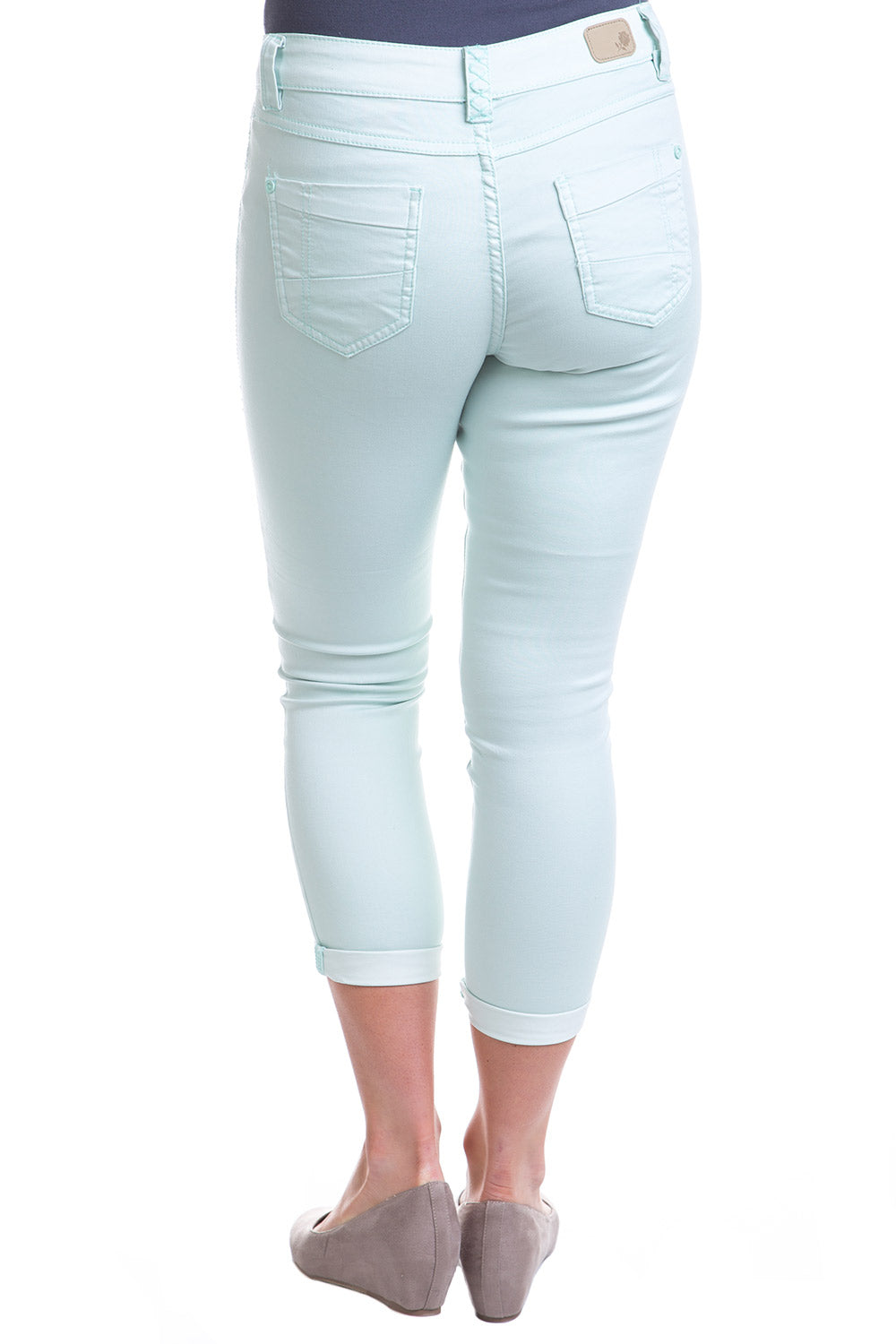 Type 2 Mid-Rise Crop Pants in Mint