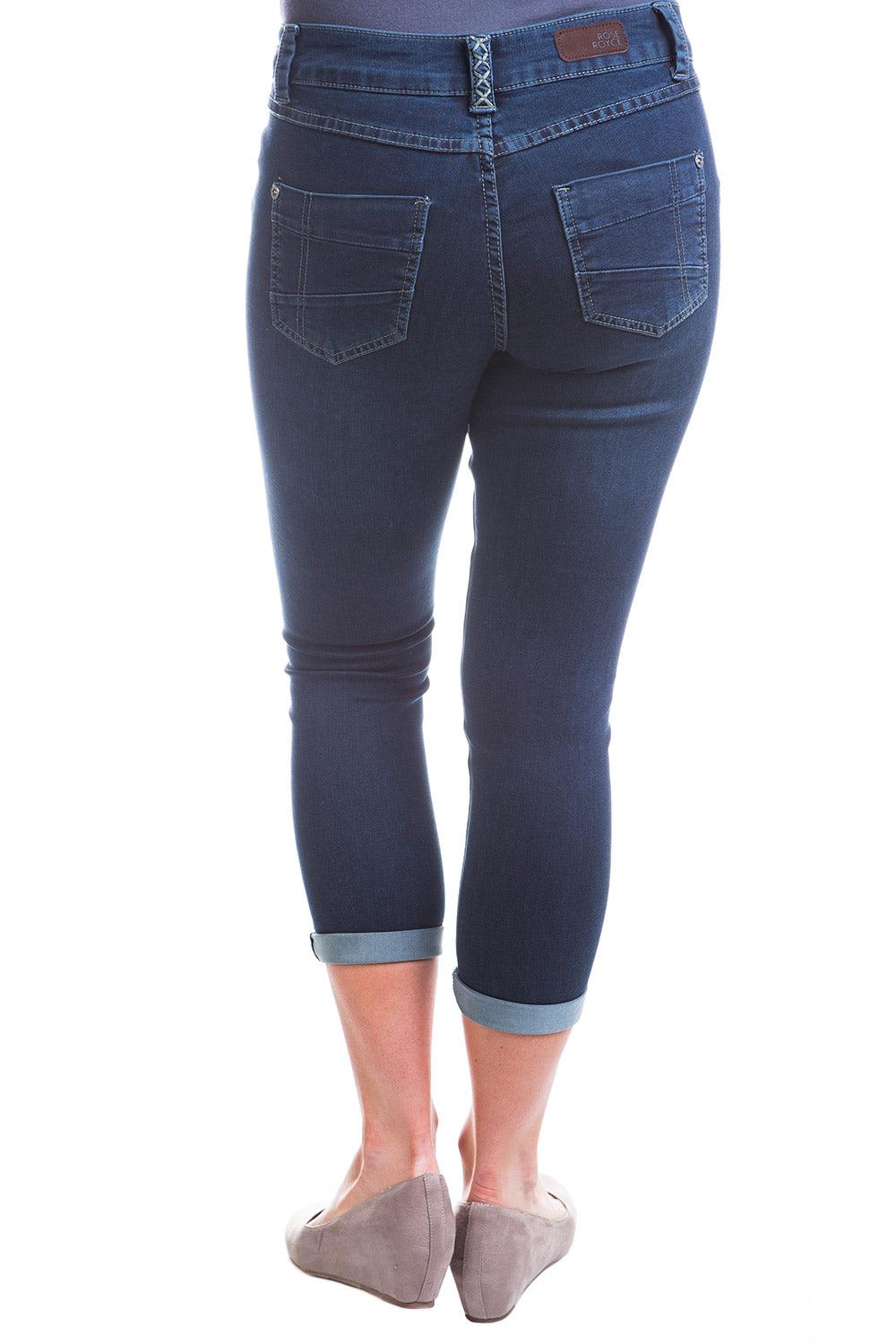 Type 2 Mid-Rise Crop Pants in Blue