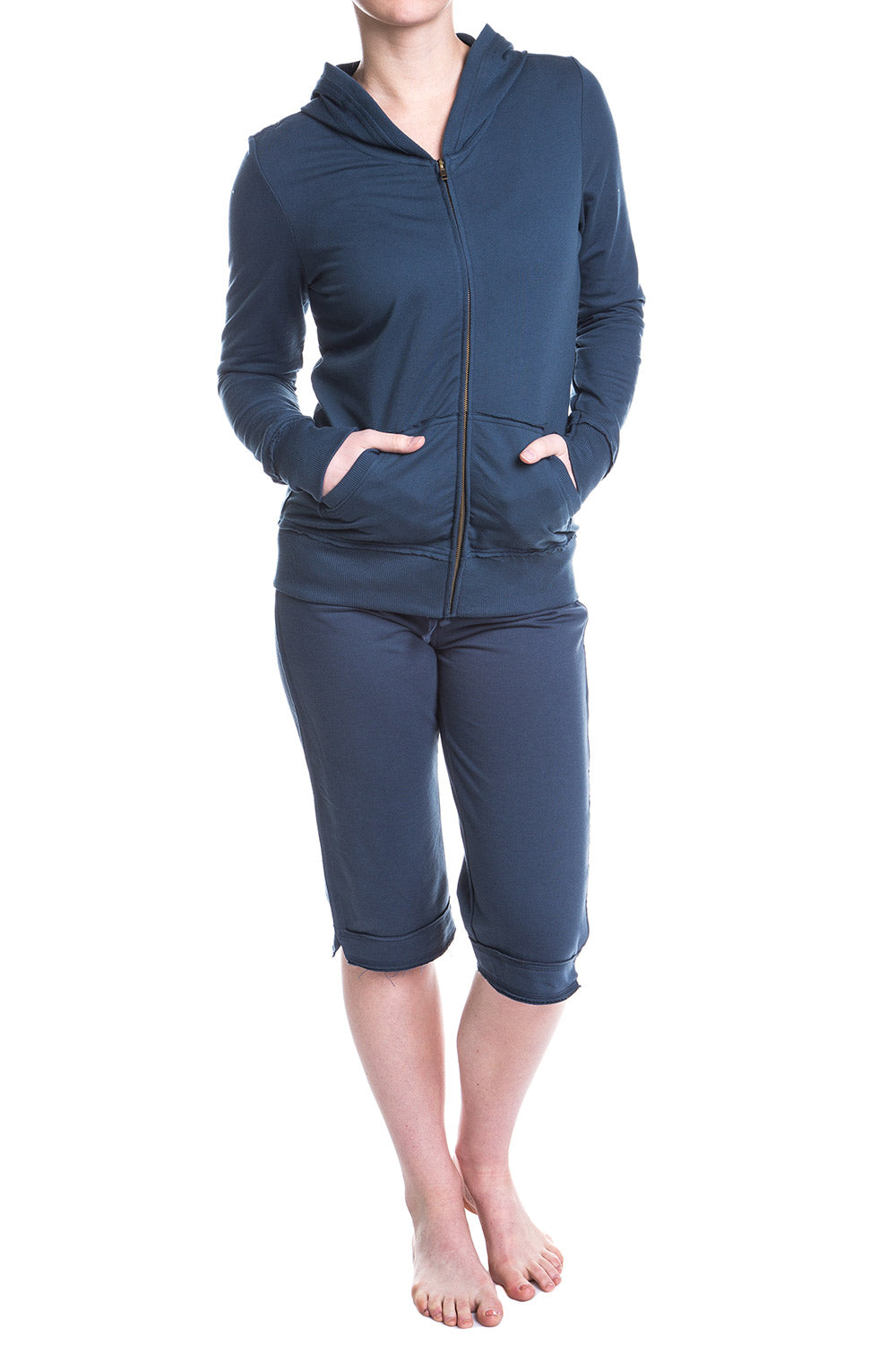 Type 2 Raw Edge Lounge Capri in Indigo