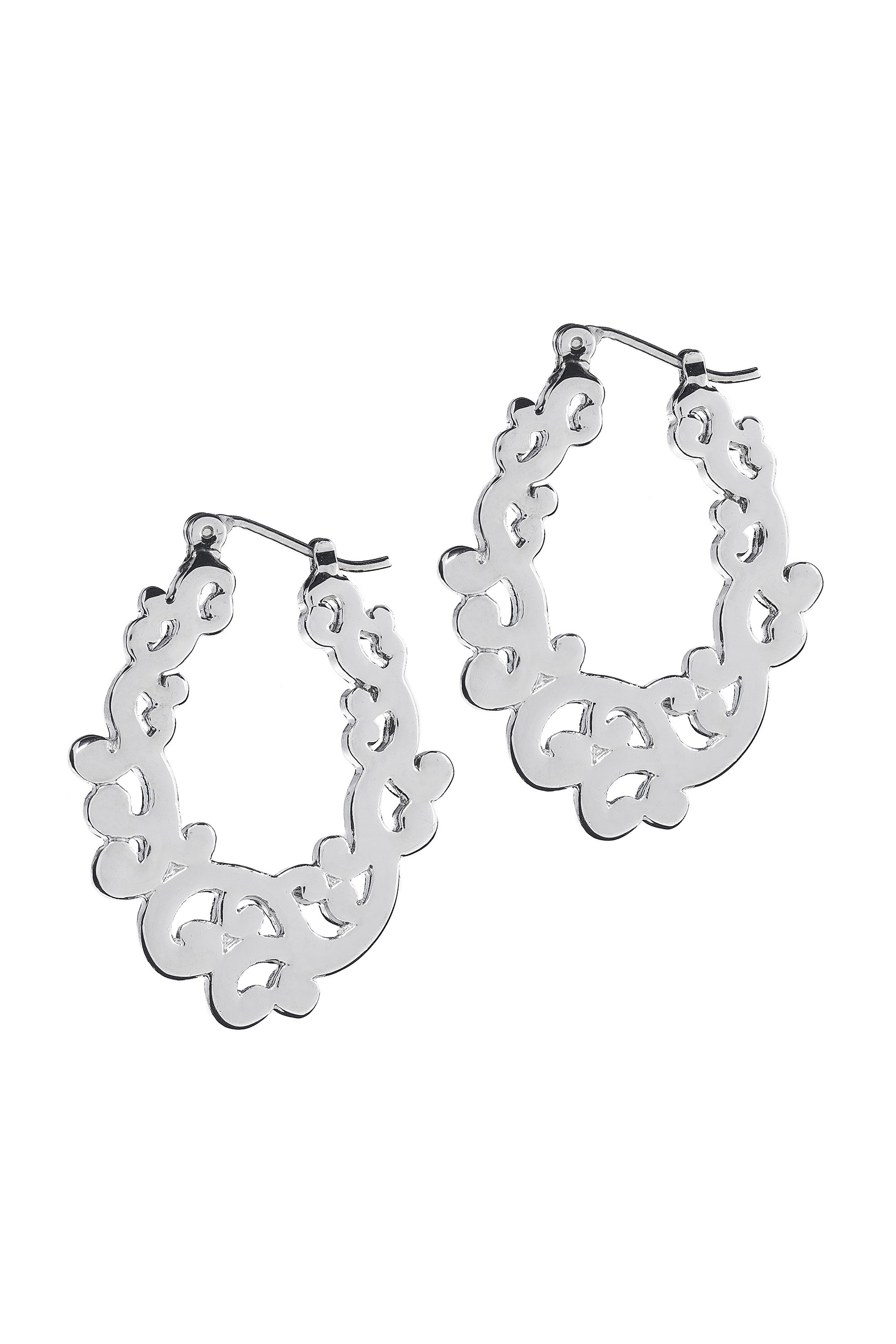 Type 2 Silver Scroll Earrings